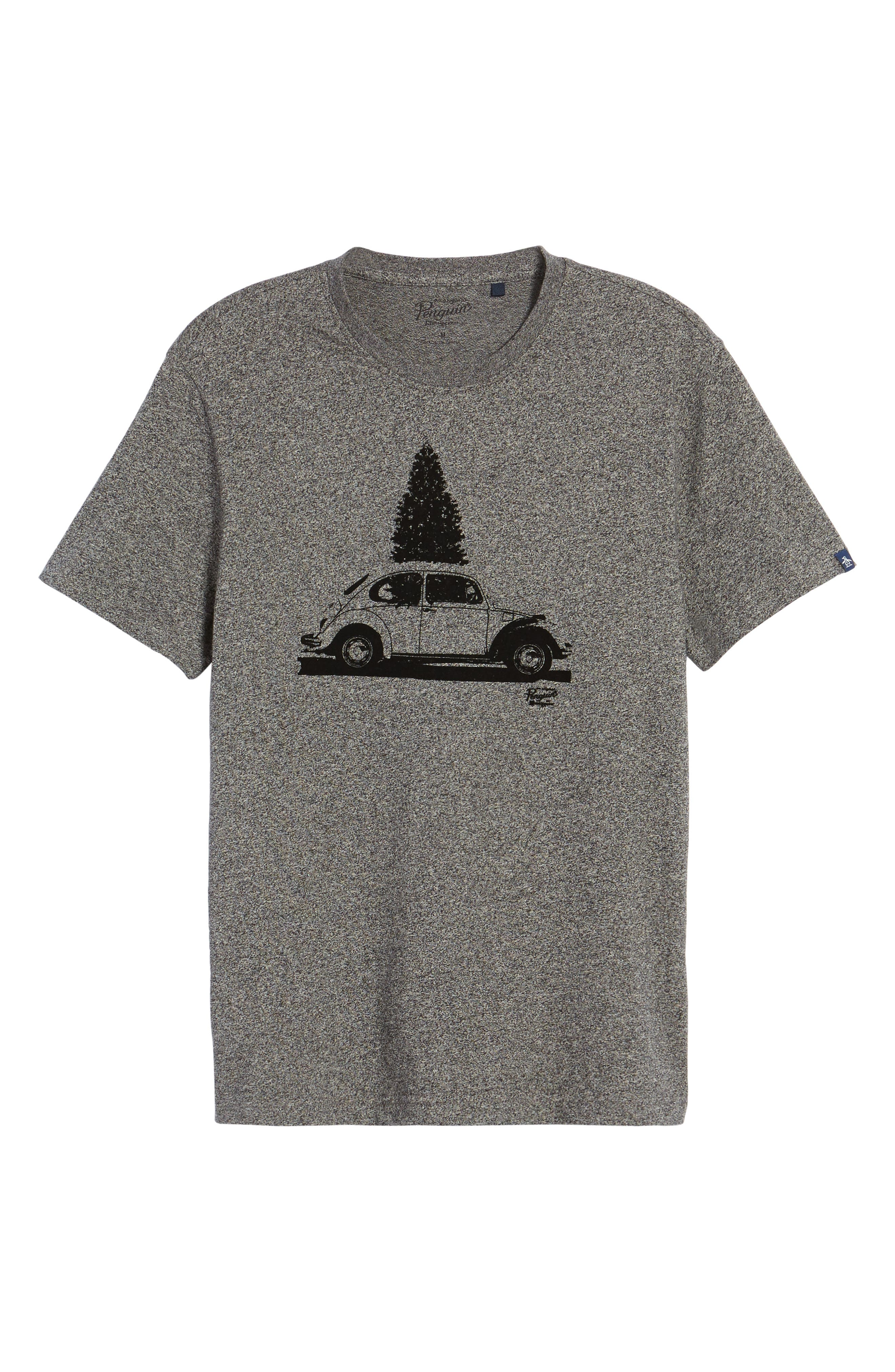 Alternate Image 6  - Original Penguin Flocked Christmas Car T-Shirt