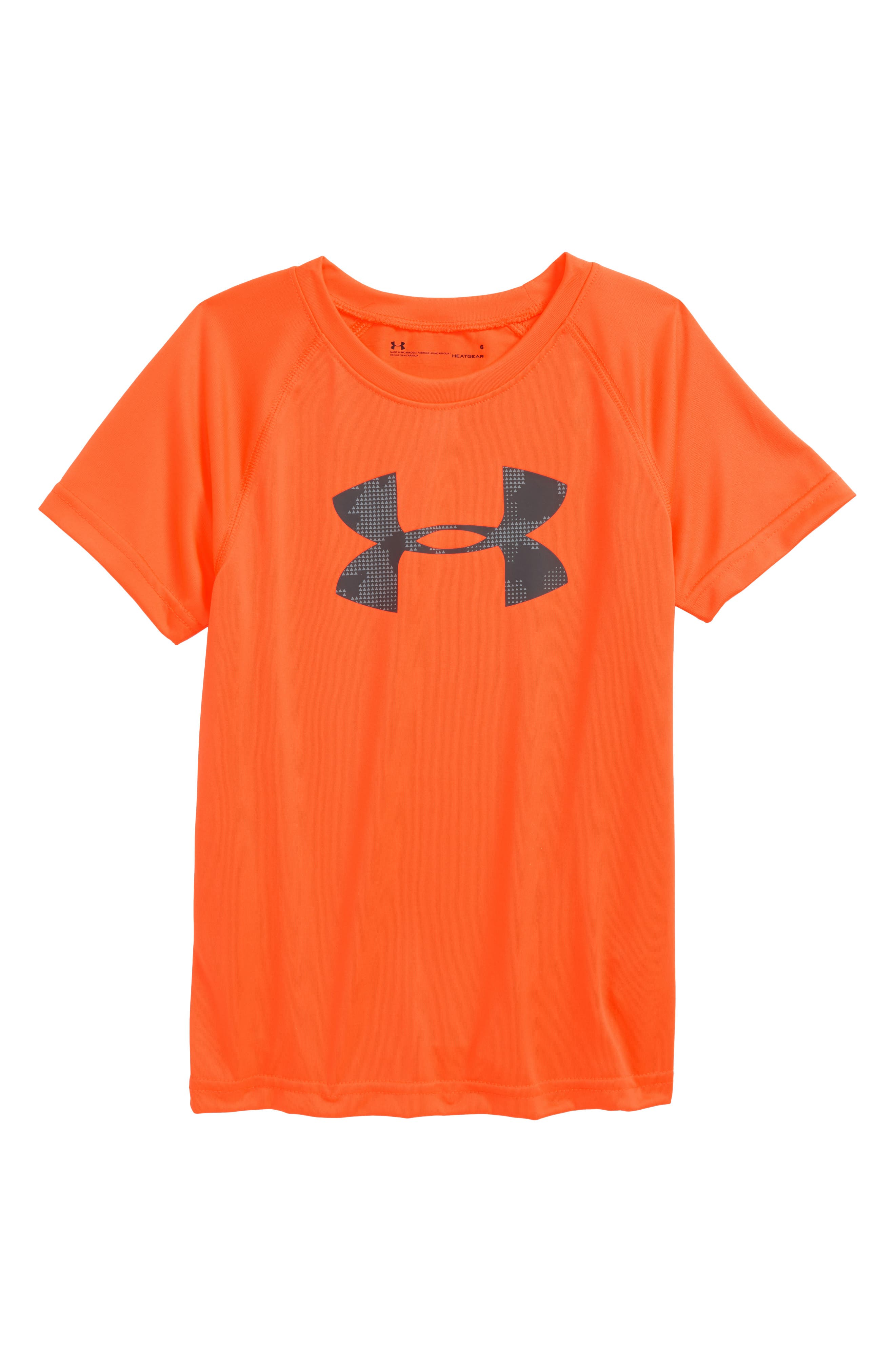 Utility Big Logo HeatGear<sup>®</sup> T-Shirt,                             Main thumbnail 1, color,                             Magma Orange