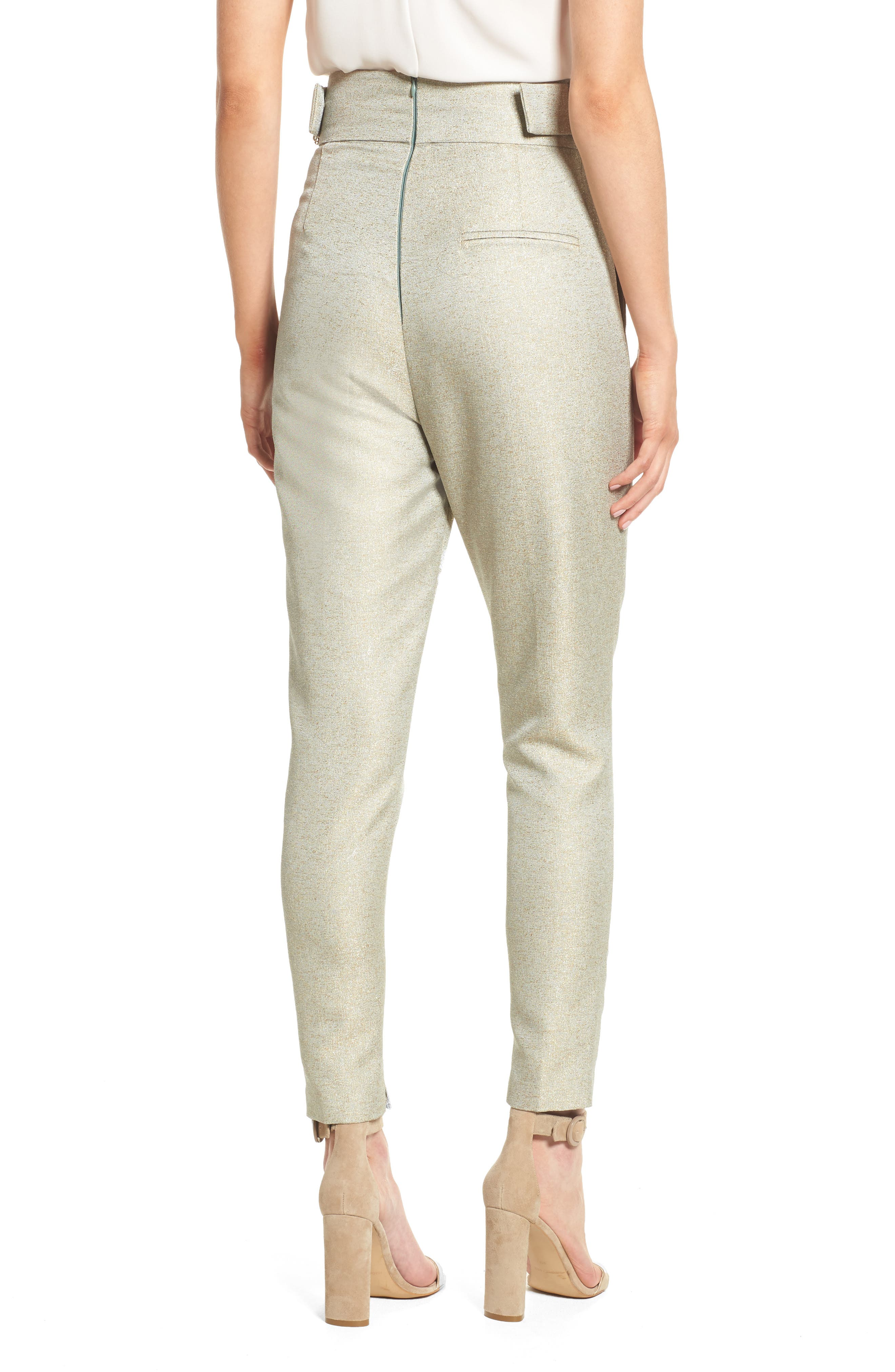 Valencia High Waist Ankle Skinny Pants,                             Alternate thumbnail 3, color,                             Sage