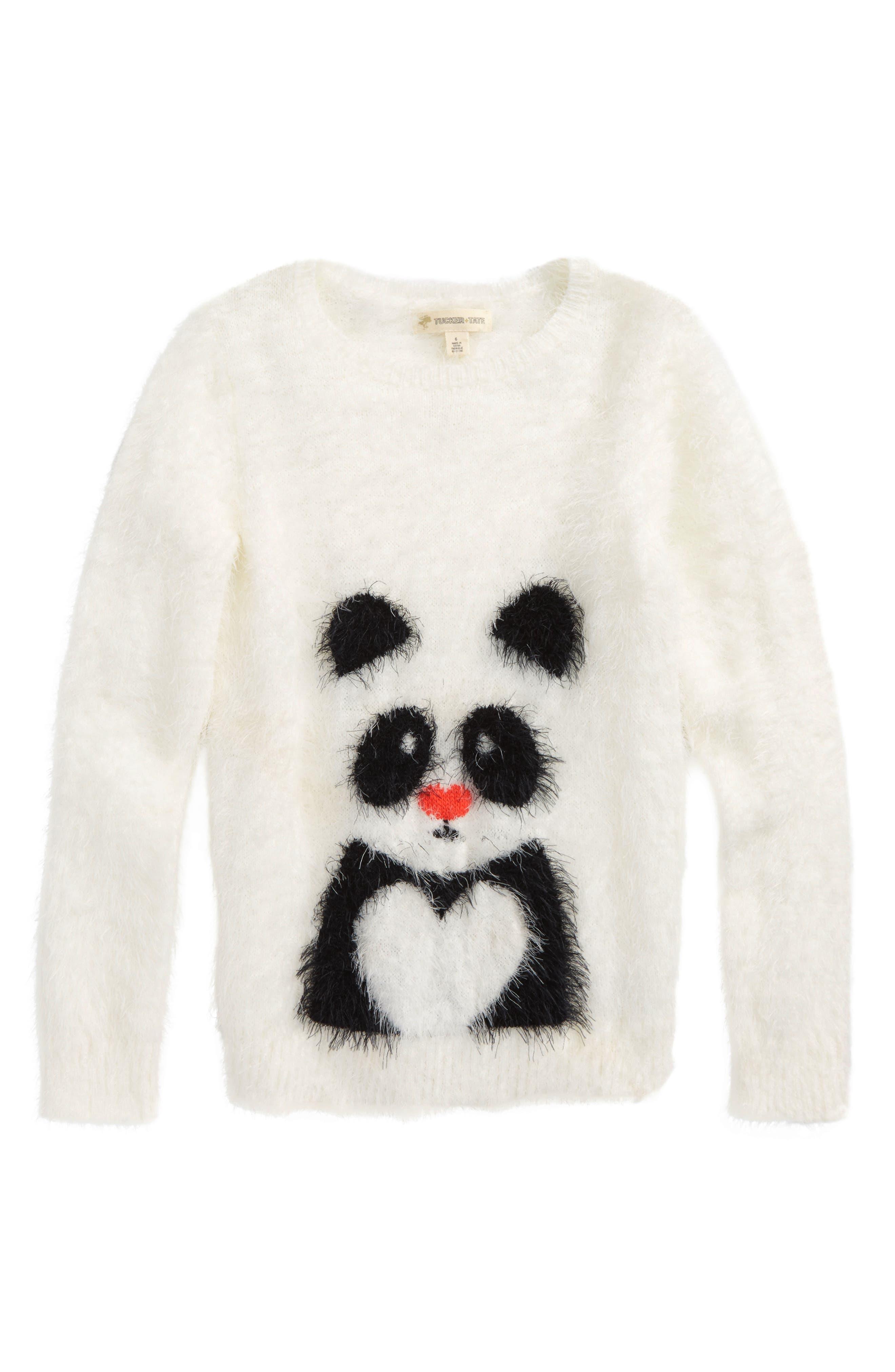 Tucker + Tate 'Icon' Eyelash Sweater (Toddler Girls, Little Girls & Big Girls)