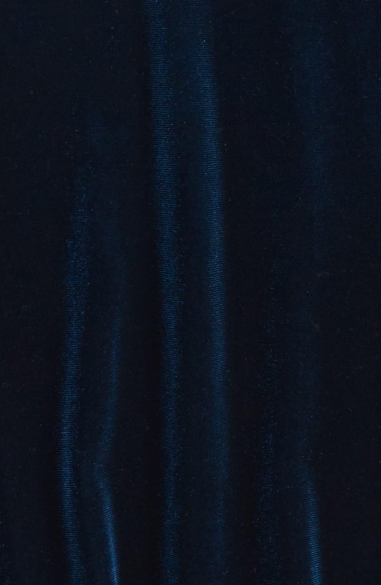 Bardot Junior Velvet Cold Shoulder Top,                             Alternate thumbnail 2, color,                             Teal