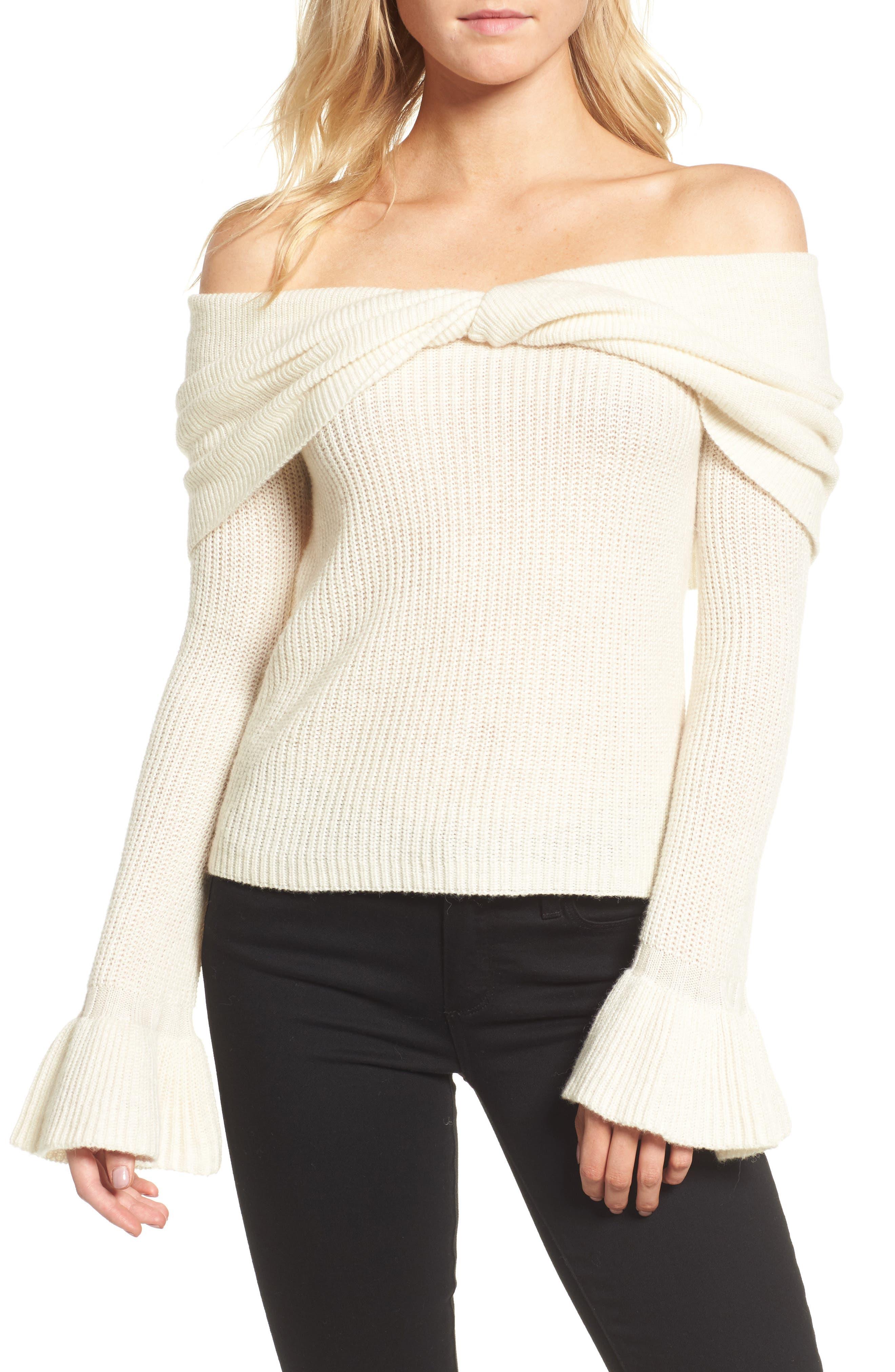 Ella Moss Off the Shoulder Sweater