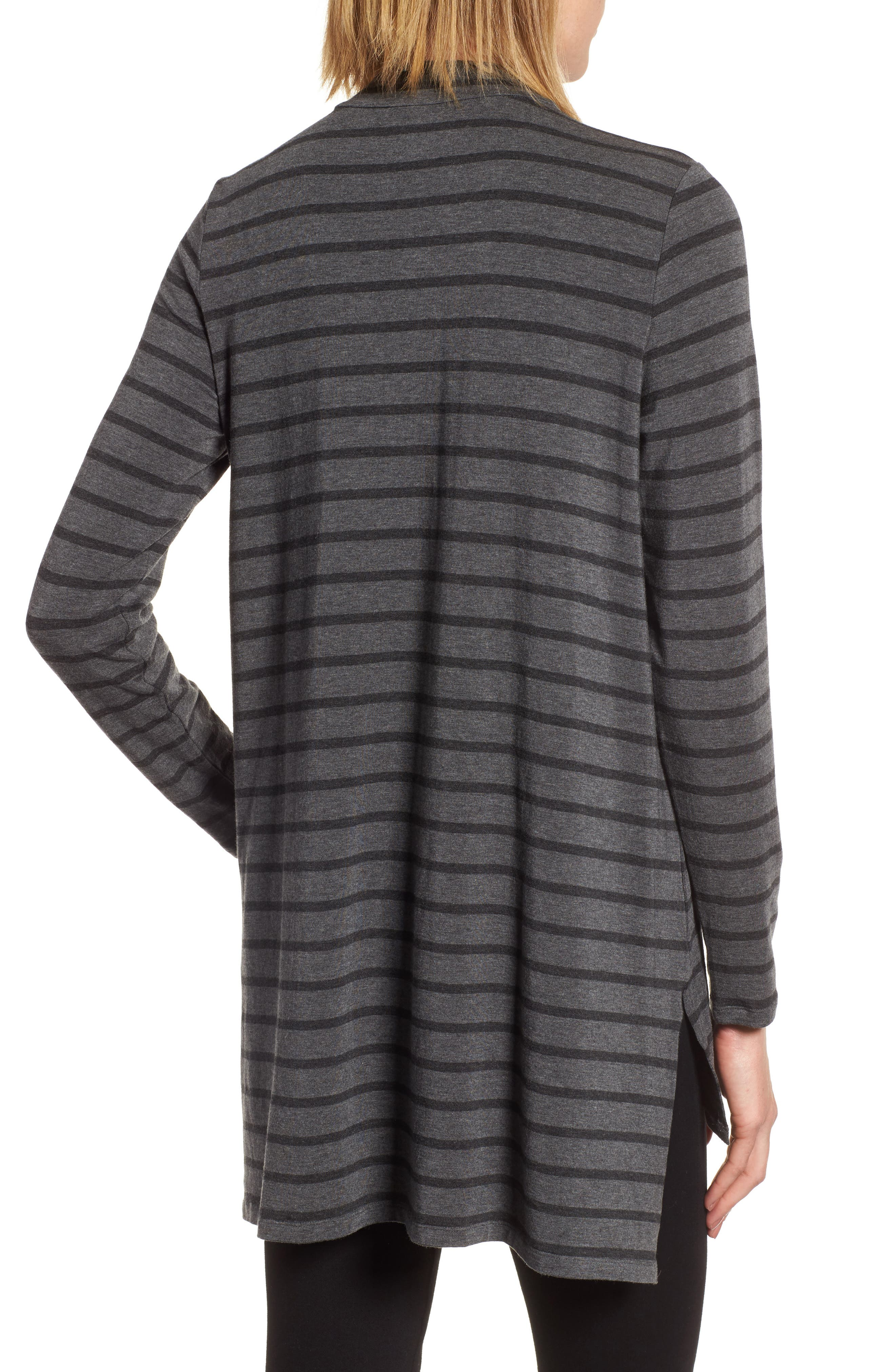 Alternate Image 2  - Eileen Fisher Stripe Stretch Tencel® Tunic