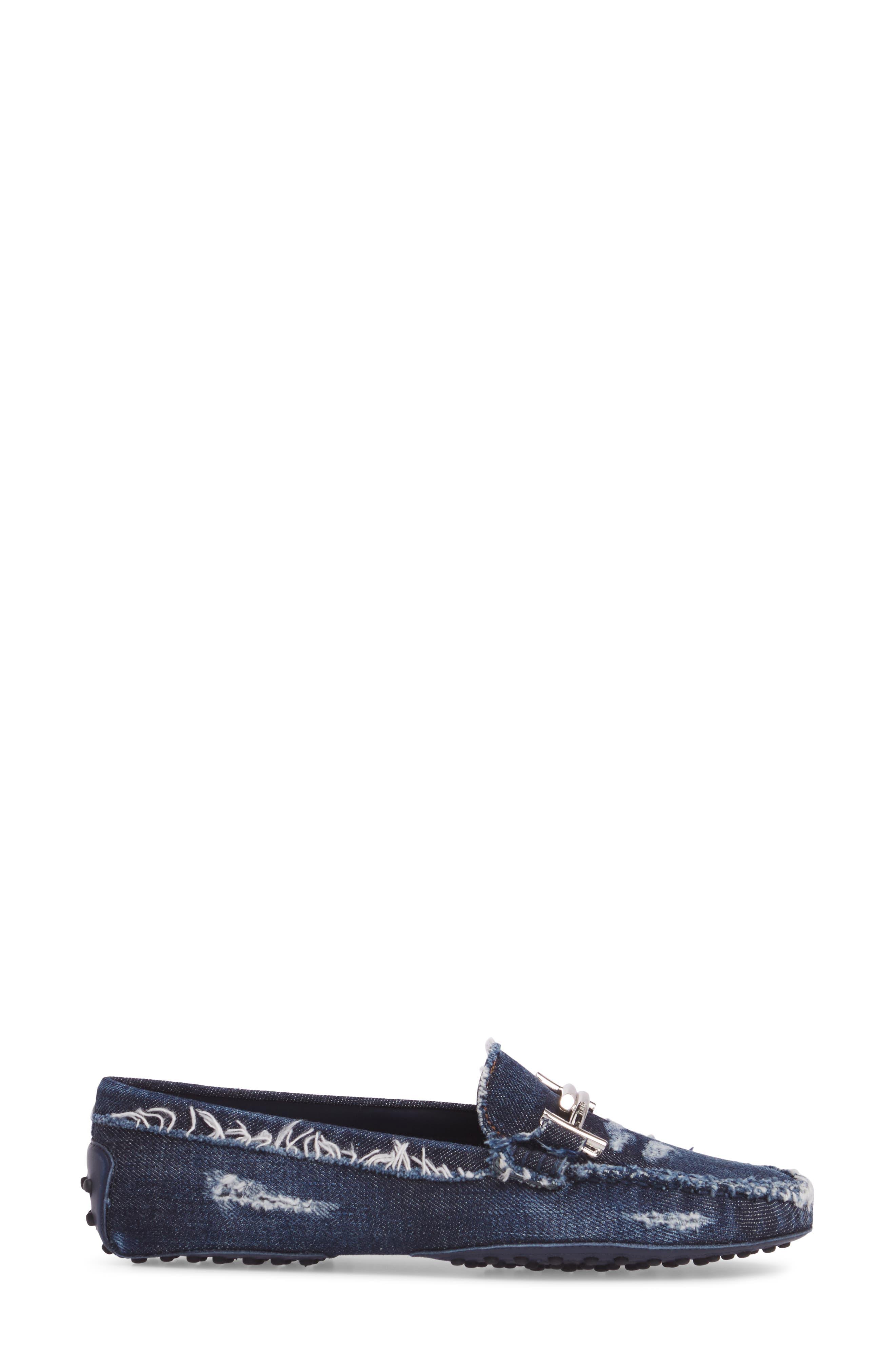 Gommino Double T Loafer,                             Alternate thumbnail 3, color,                             Denim Blue