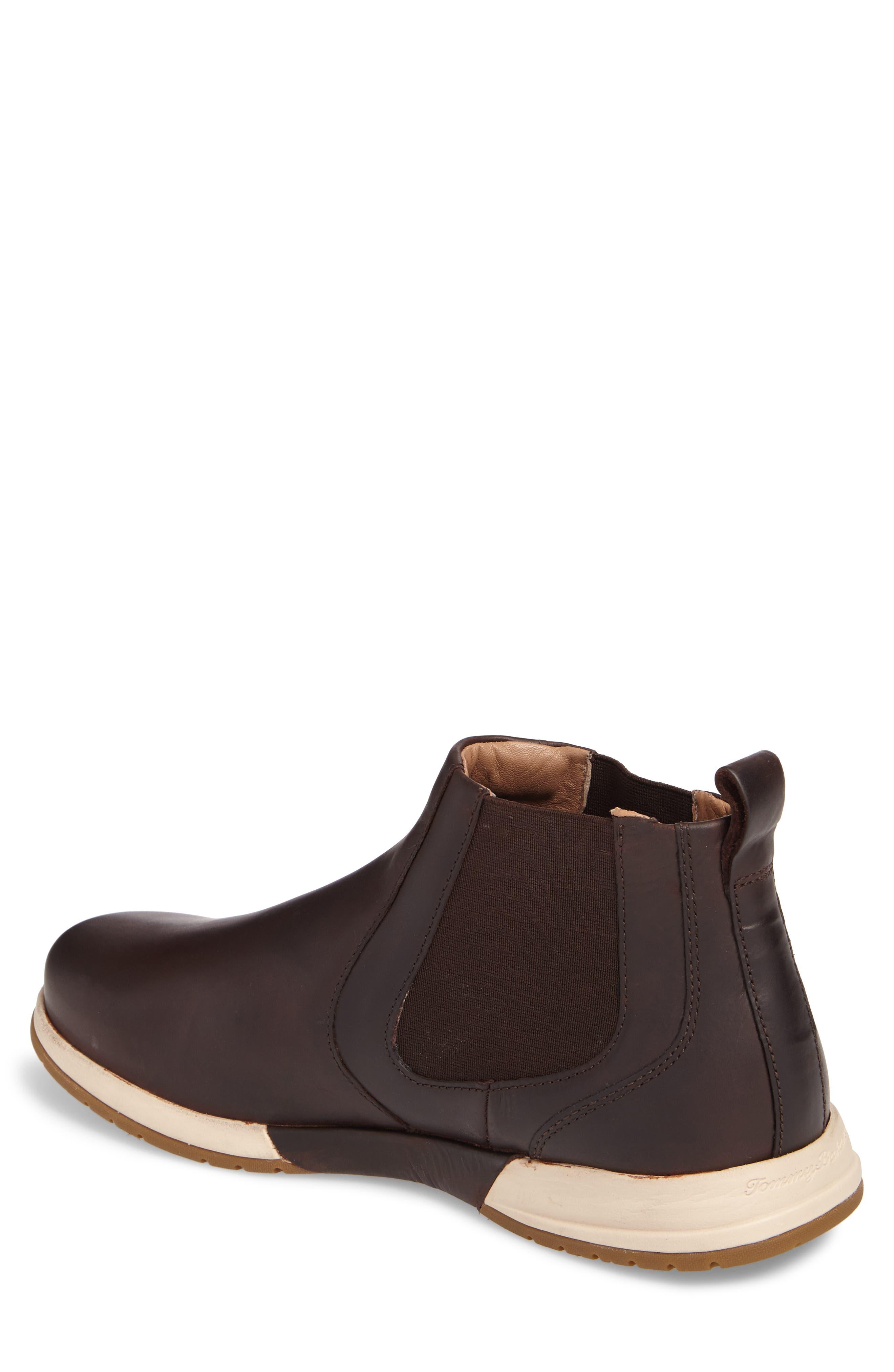 Santiago Chelsea Boot,                             Alternate thumbnail 2, color,                             Dark Brown Leather