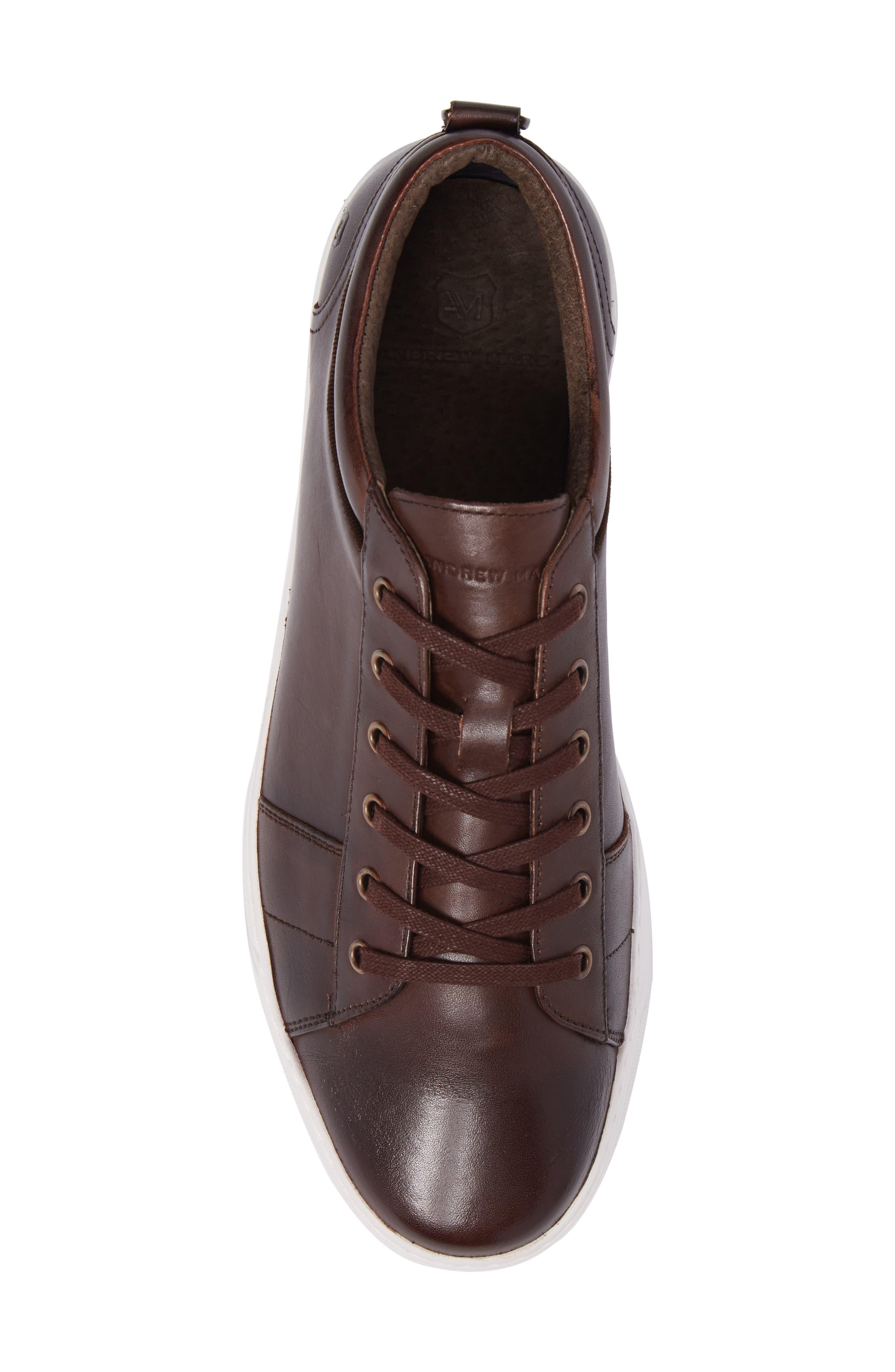 'Darwood' Sneaker,                             Alternate thumbnail 4, color,                             Dark Brown/ White Leather