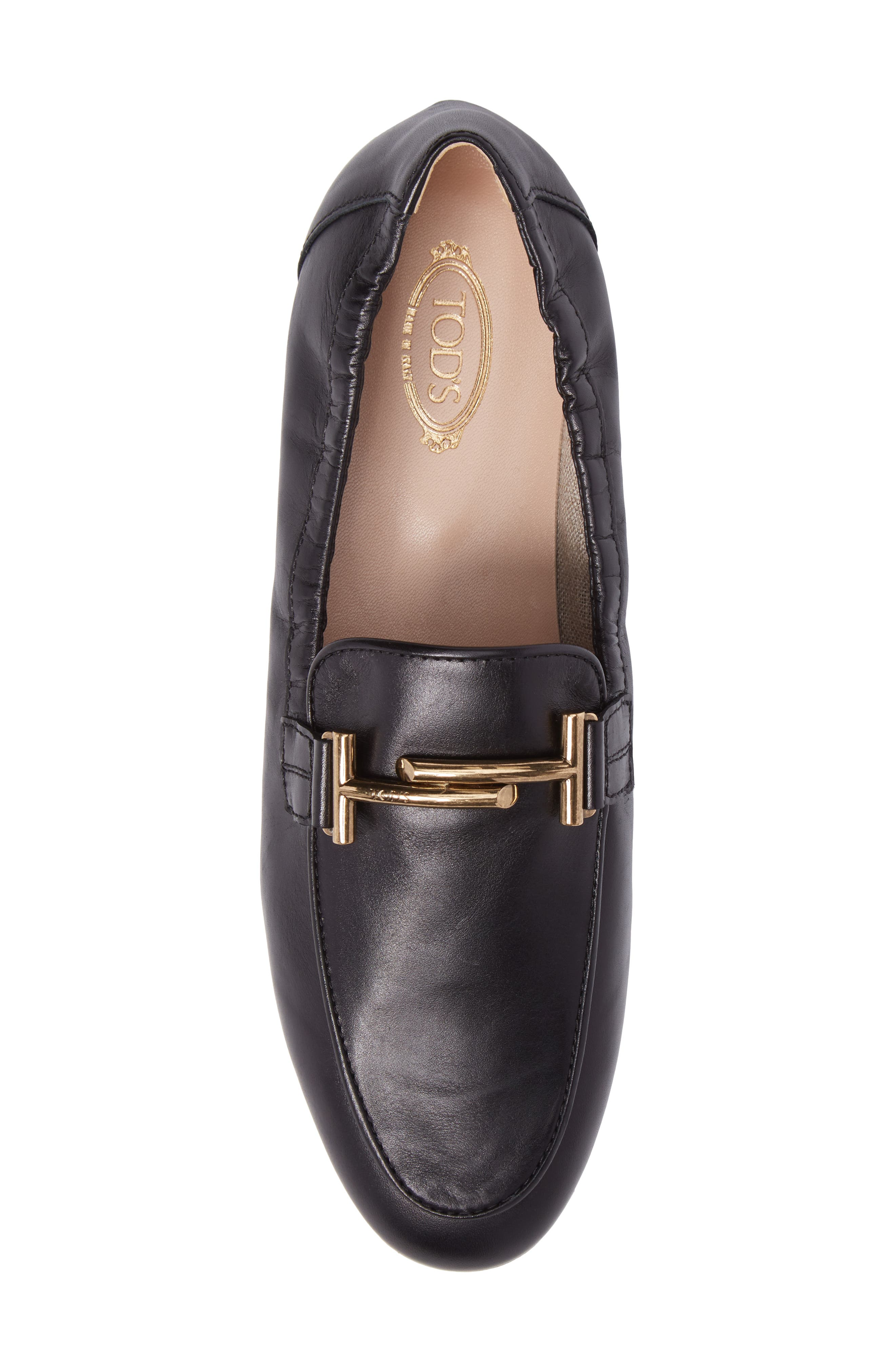 Double T Scrunch Loafer,                             Alternate thumbnail 5, color,                             Black