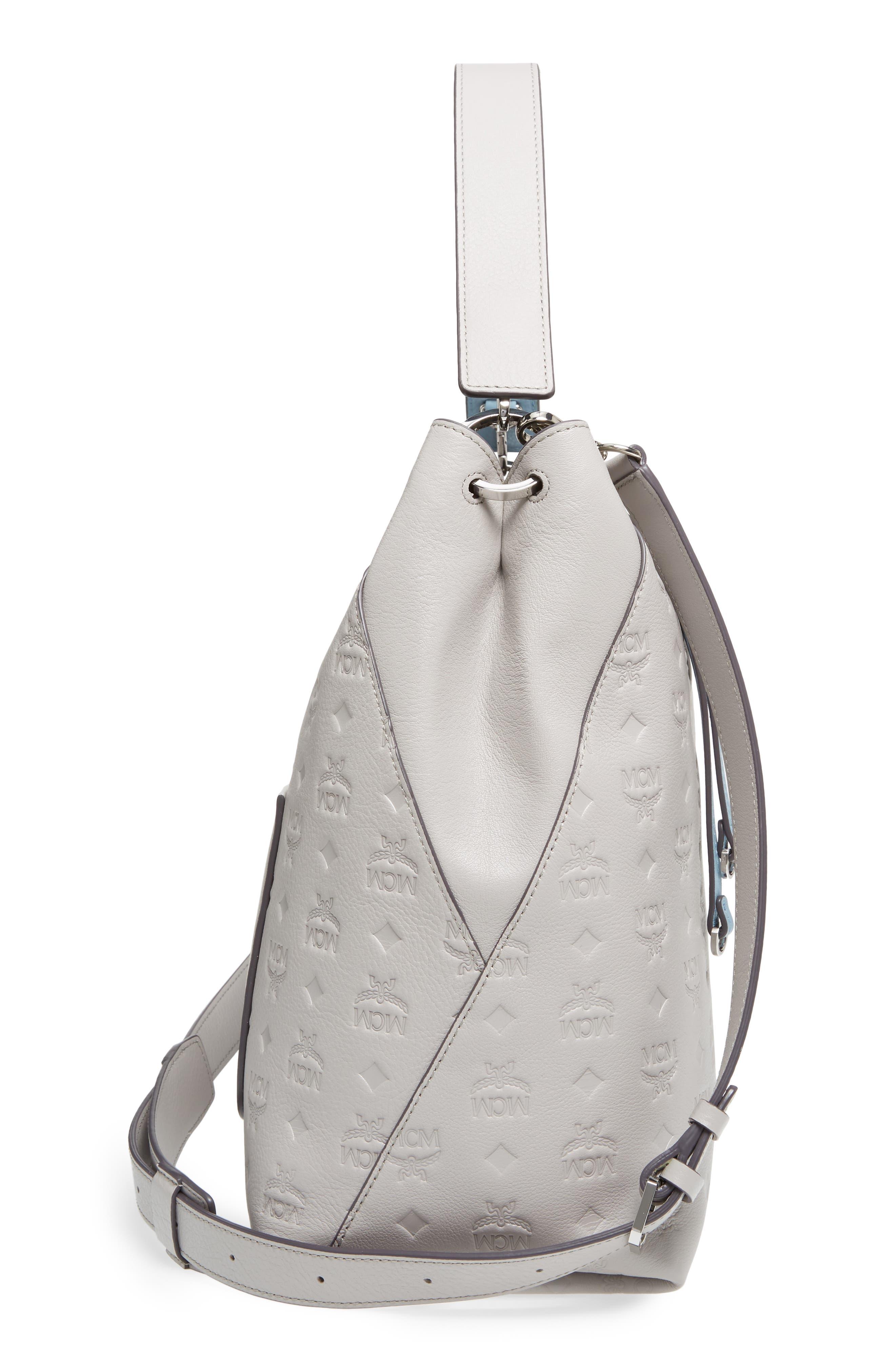 Alternate Image 5  - MCM Klara Monogrammed Leather Hobo Bag