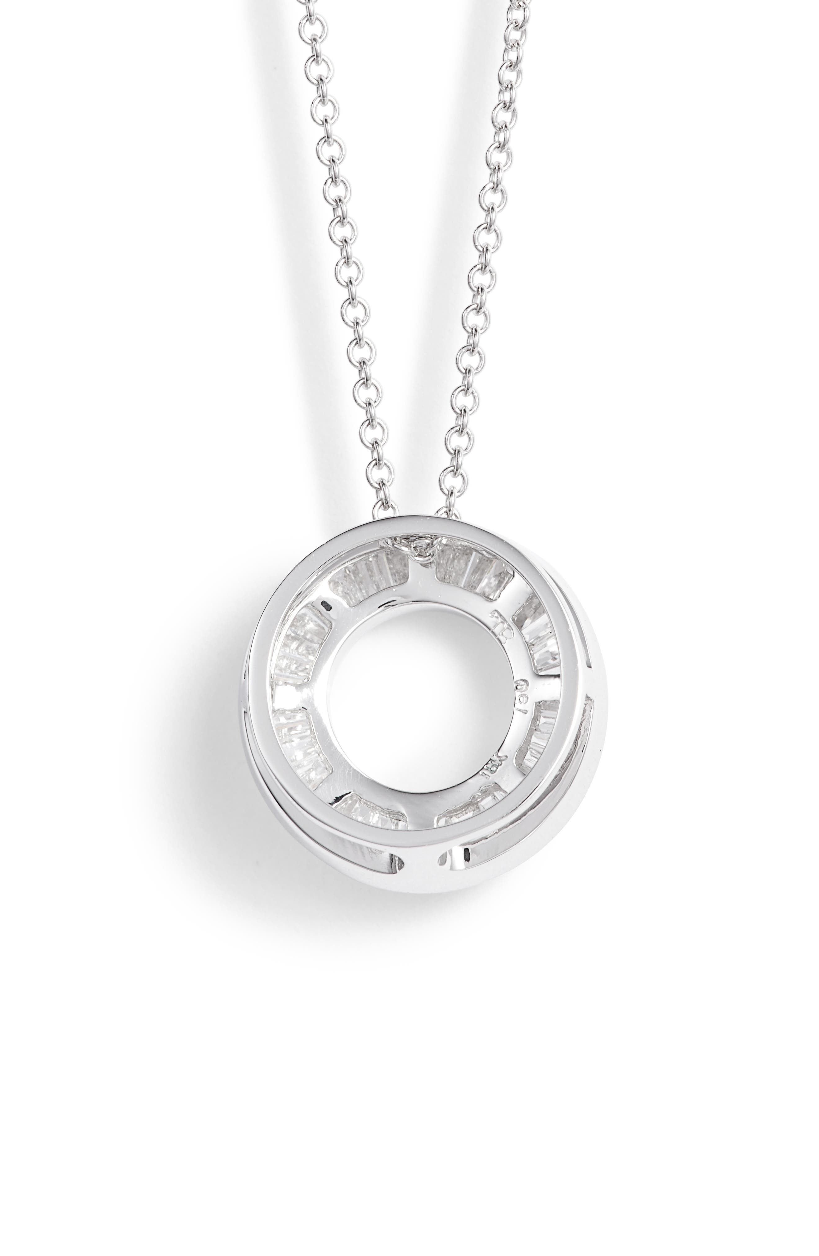 Alternate Image 4  - Bony Levy 'Circle of Life' Small Diamond Pendant Necklace (Nordstrom Exclusive)