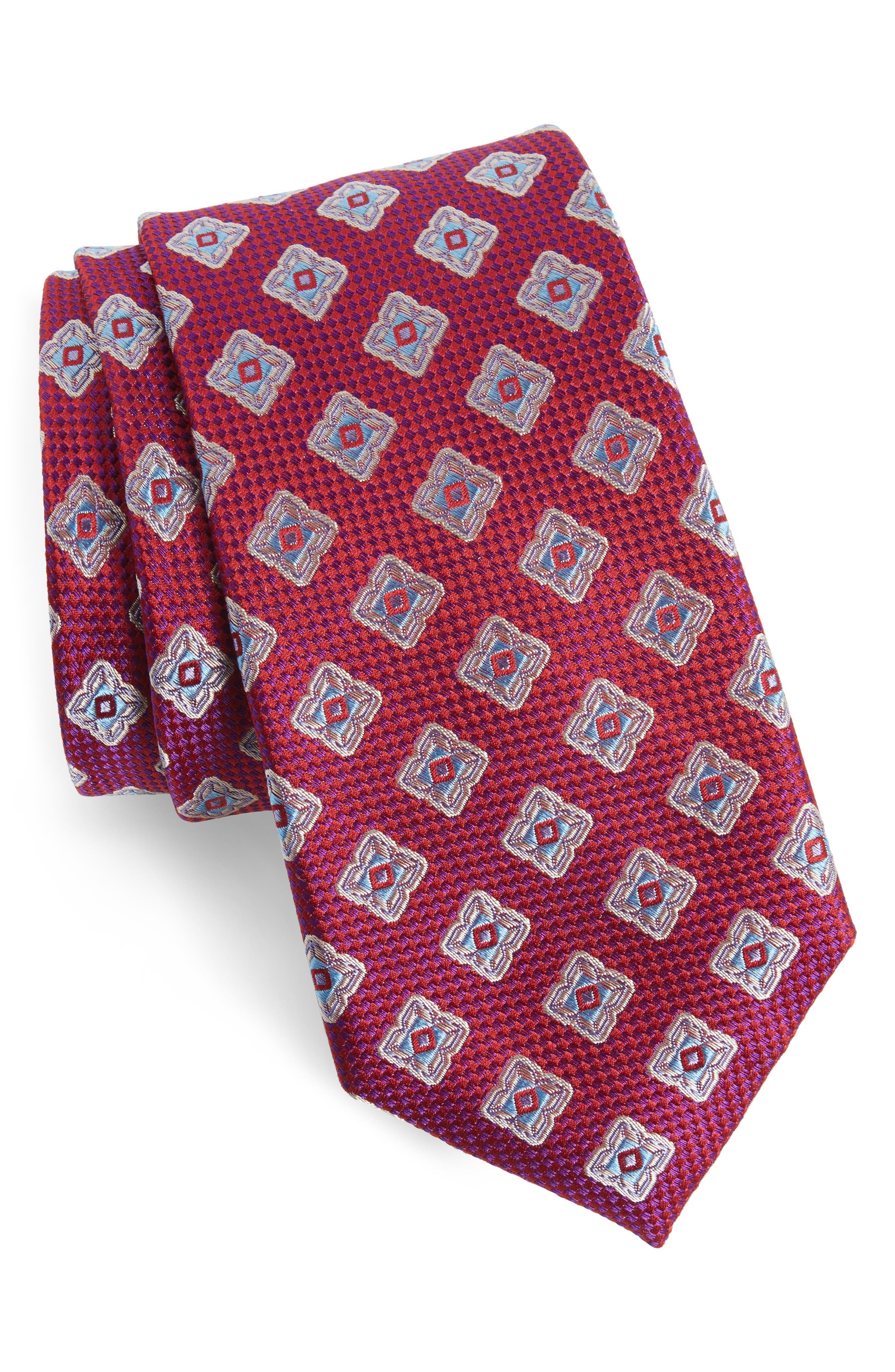 Main Image - Nordstrom Men's Shop Ethan Medallion Silk Tie