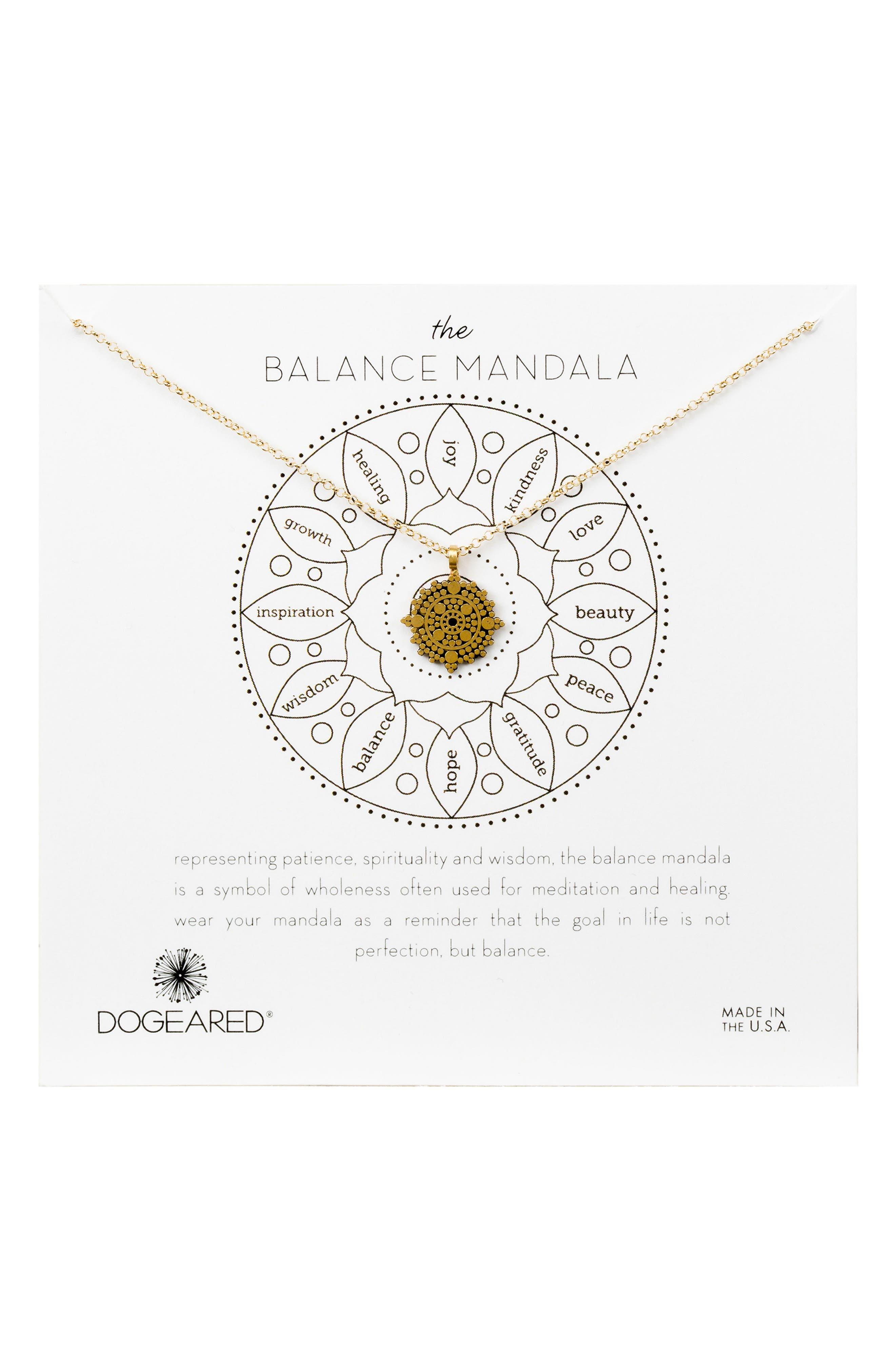 Dogeared Balance Mandala Necklace