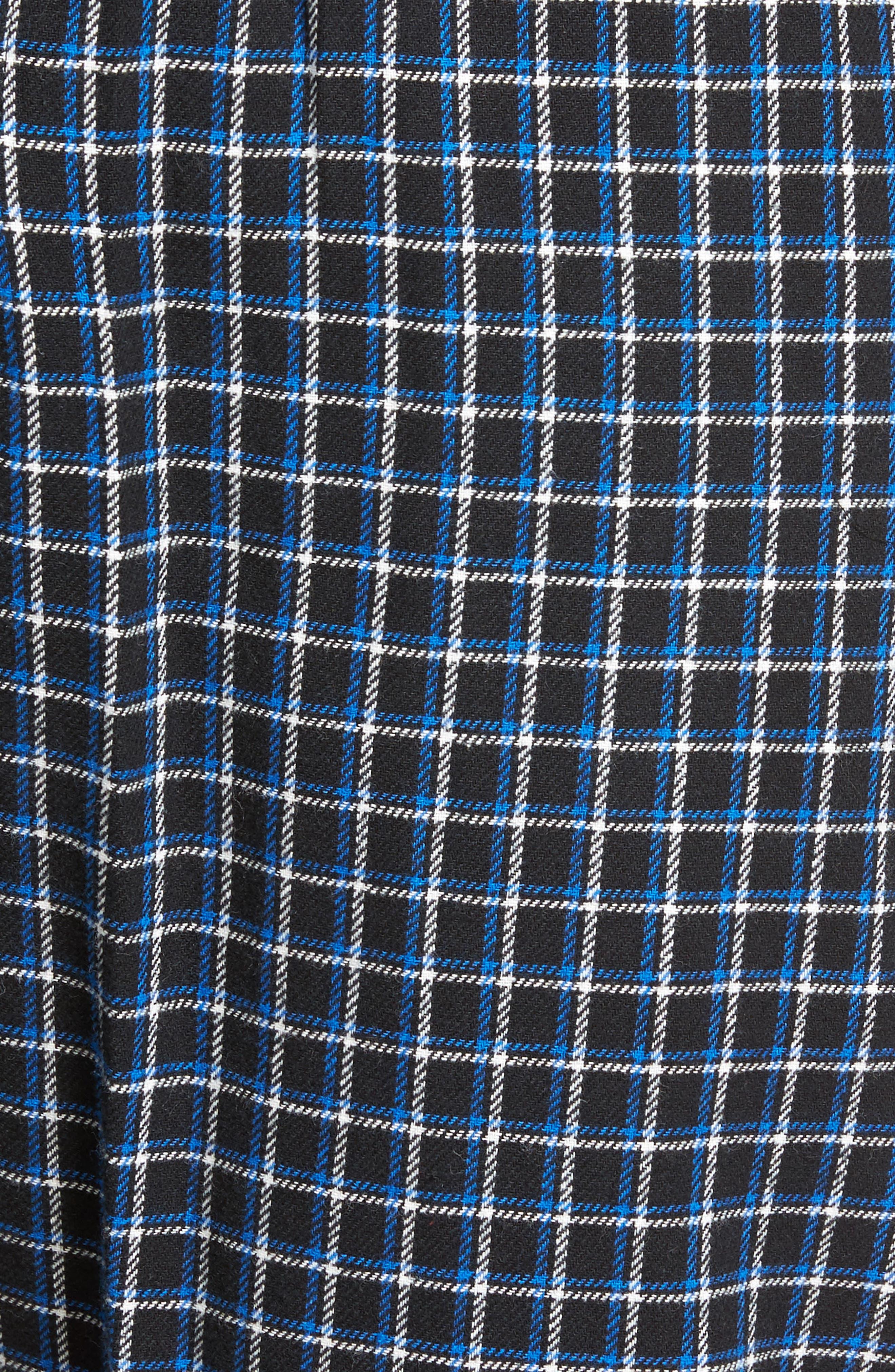 Flannel Pajama Jogger Pants,                             Alternate thumbnail 5, color,                             Logan Plaid/ Crescent Cream