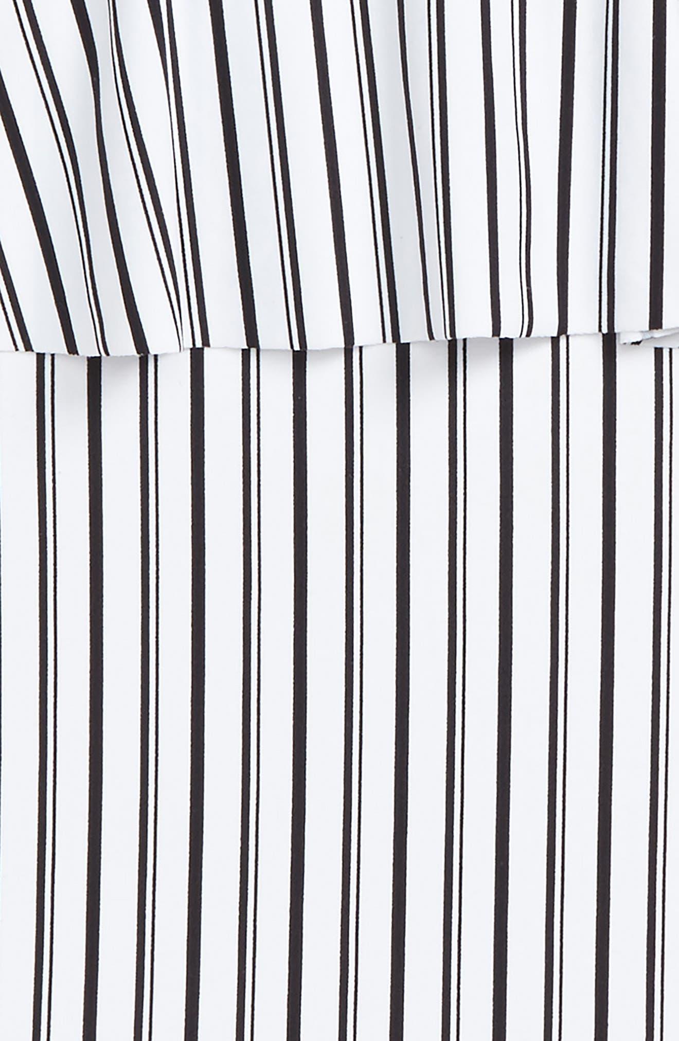 Highway Stripe One-Piece Swimsuit,                             Alternate thumbnail 2, color,                             White W/ Black - Wbk