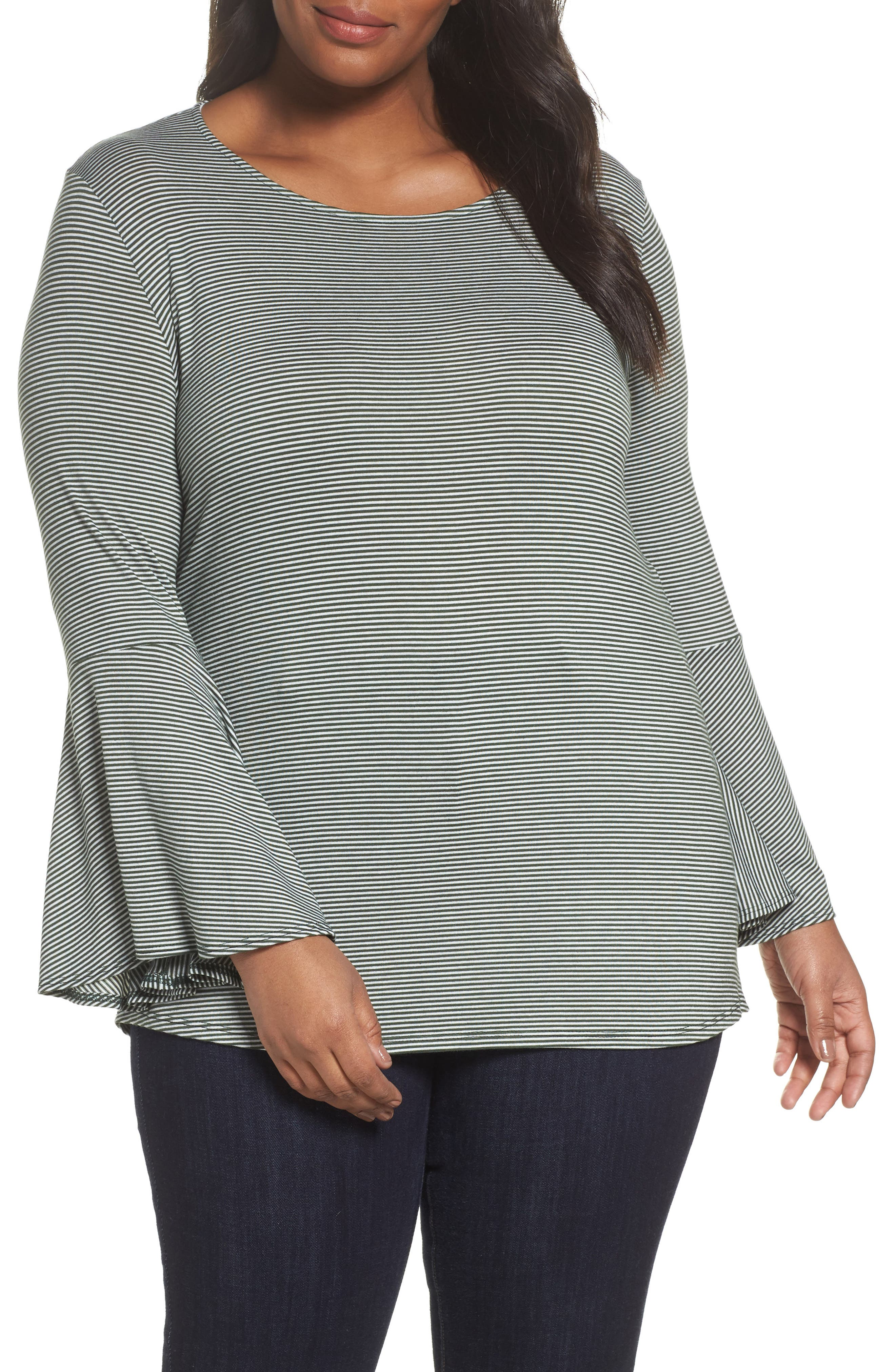 Sejour Bell Sleeve Top (Plus Size)