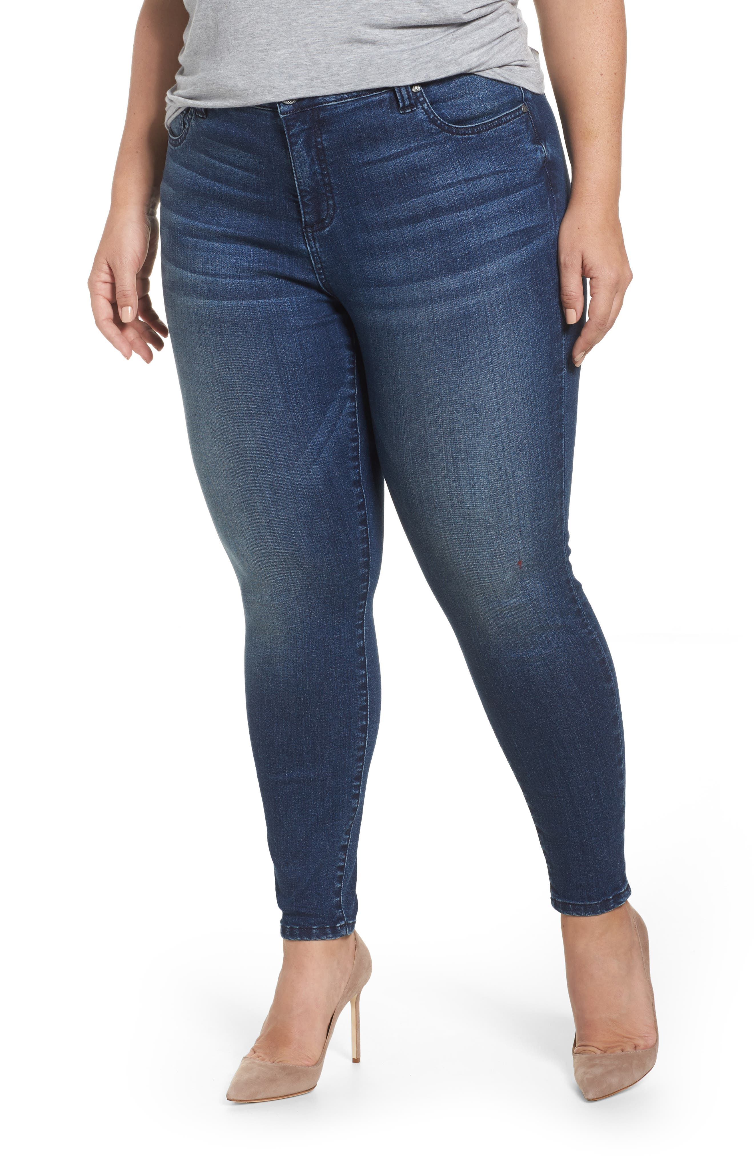 Main Image - KUT from the Kloth Donna Skinny Ankle Jeans (Cheered) (Plus Size)