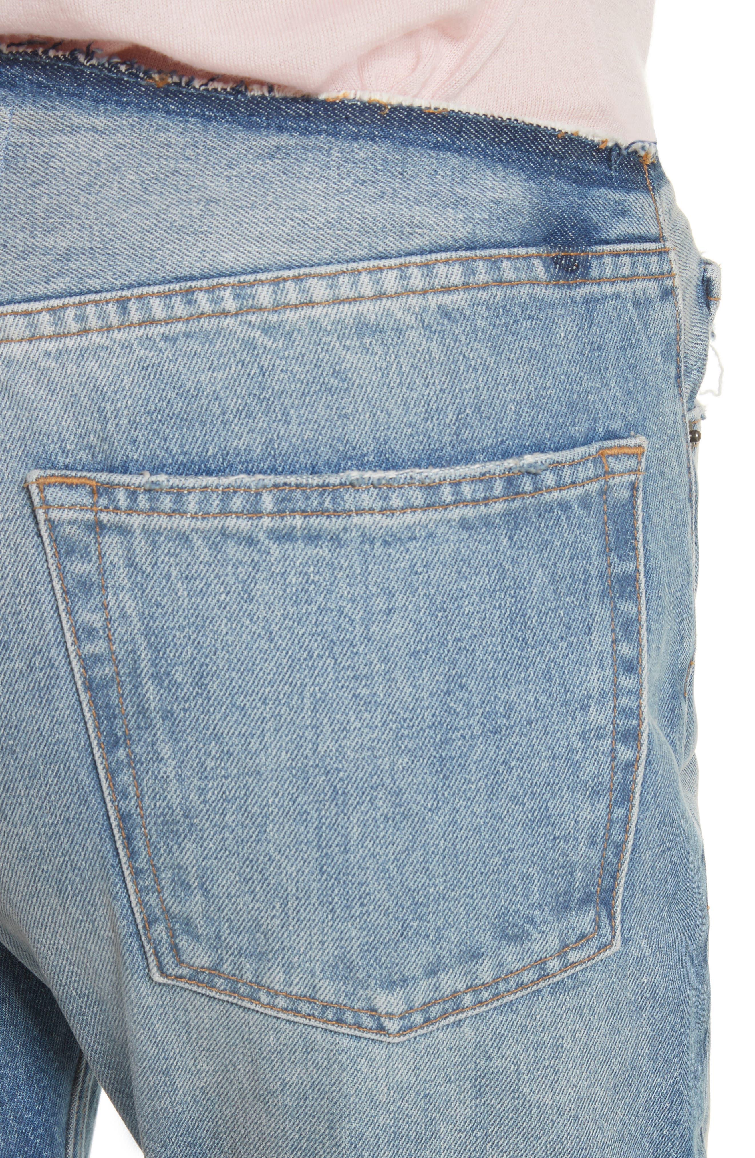 Re-Release Le Original Raw Edge High Waist Jeans,                             Alternate thumbnail 4, color,                             Horne