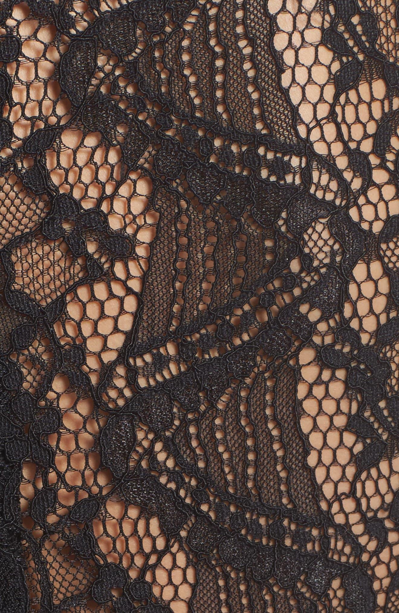 Florentine Cold Shoulder Dress,                             Alternate thumbnail 5, color,                             Black