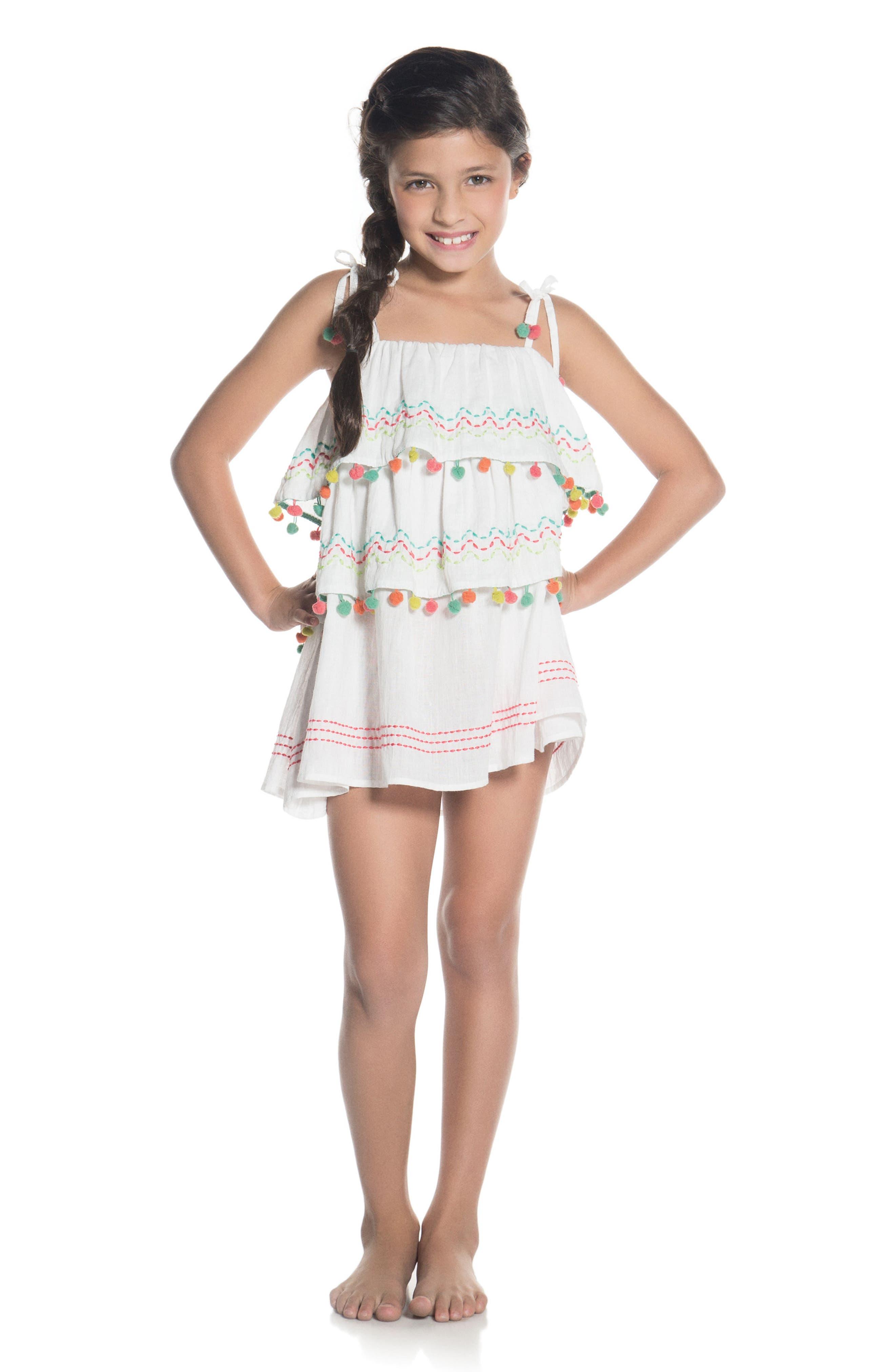Alternate Image 3  - OndadeMar Amazonia Cover-Up Dress (Little Girls & Big Girls)
