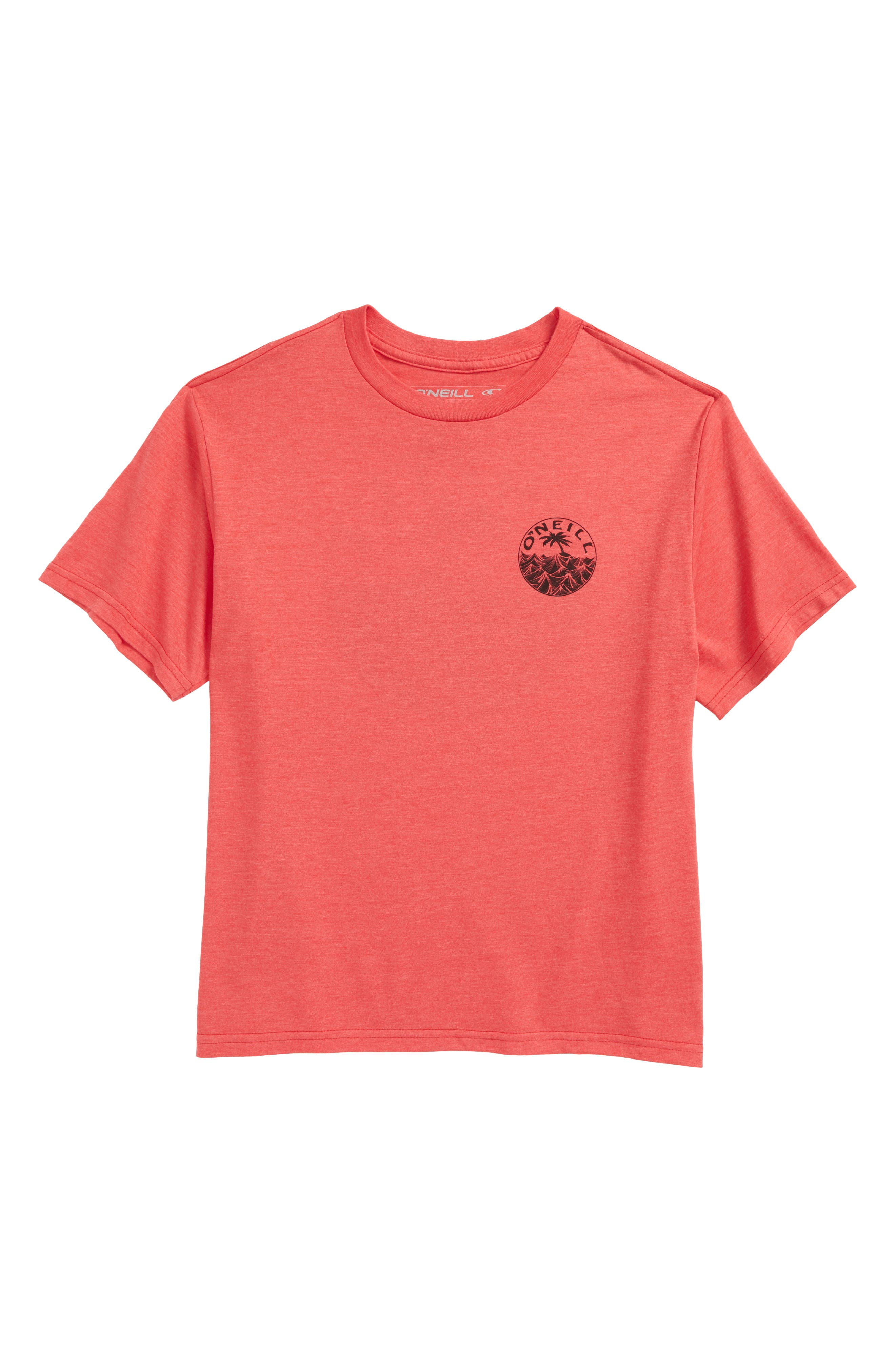 Waver Graphic T-Shirt,                             Main thumbnail 1, color,                             Heather Red