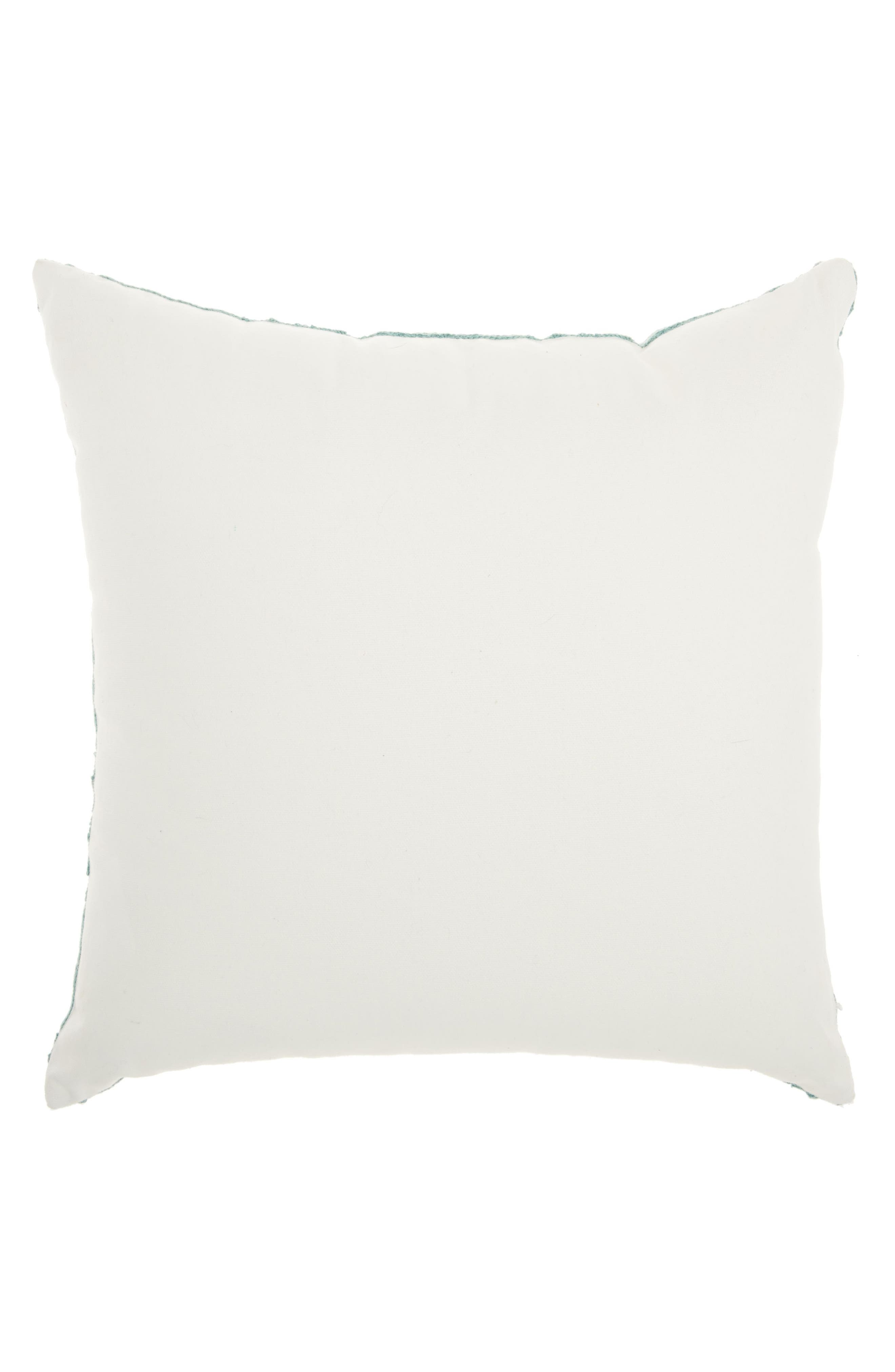 Tile Embroidered Accent Pillow,                             Alternate thumbnail 2, color,                             Celadon