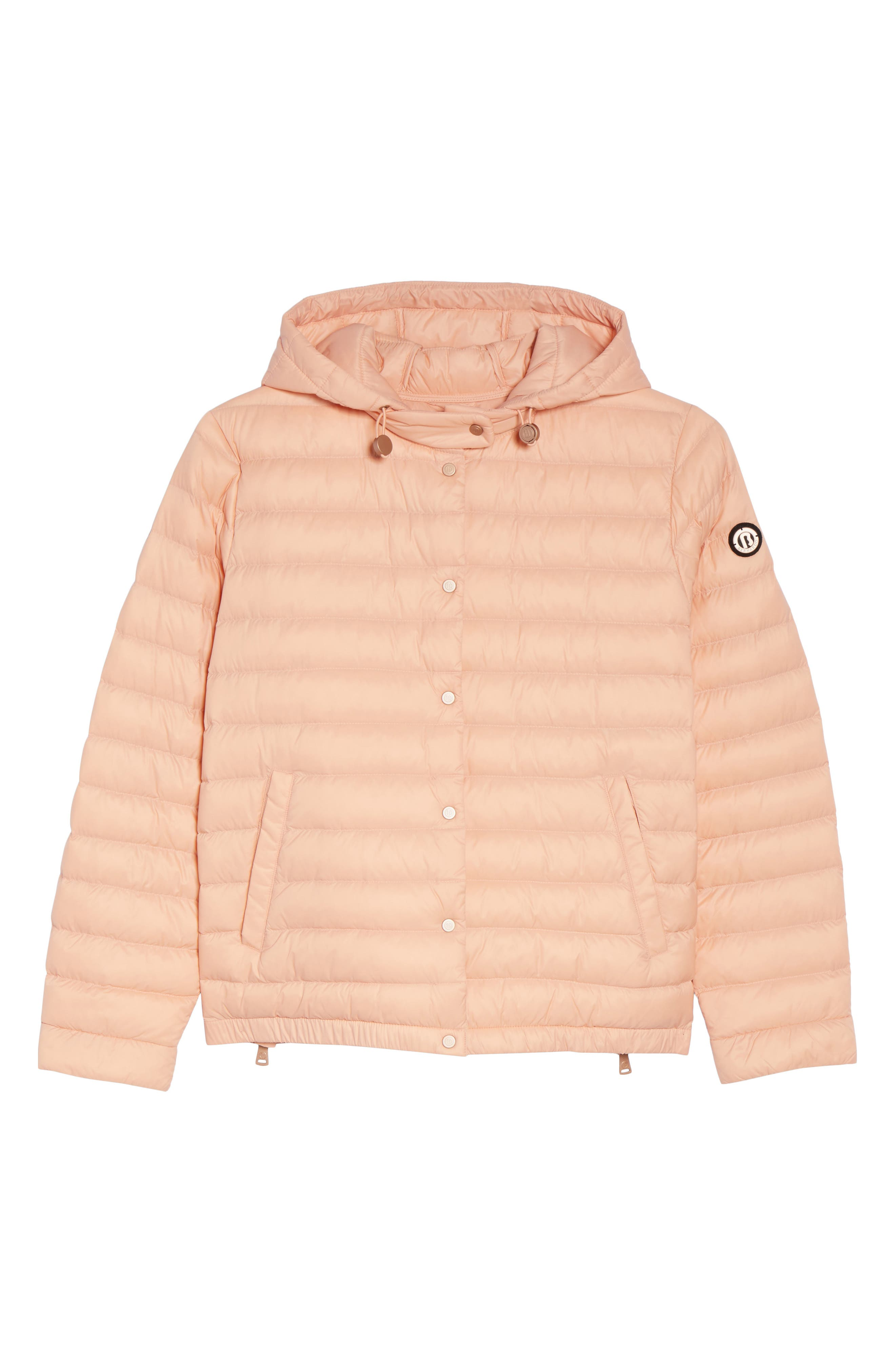 Water Resistant Insulated Hooded Bomber Jacket,                             Alternate thumbnail 6, color,                             Peach