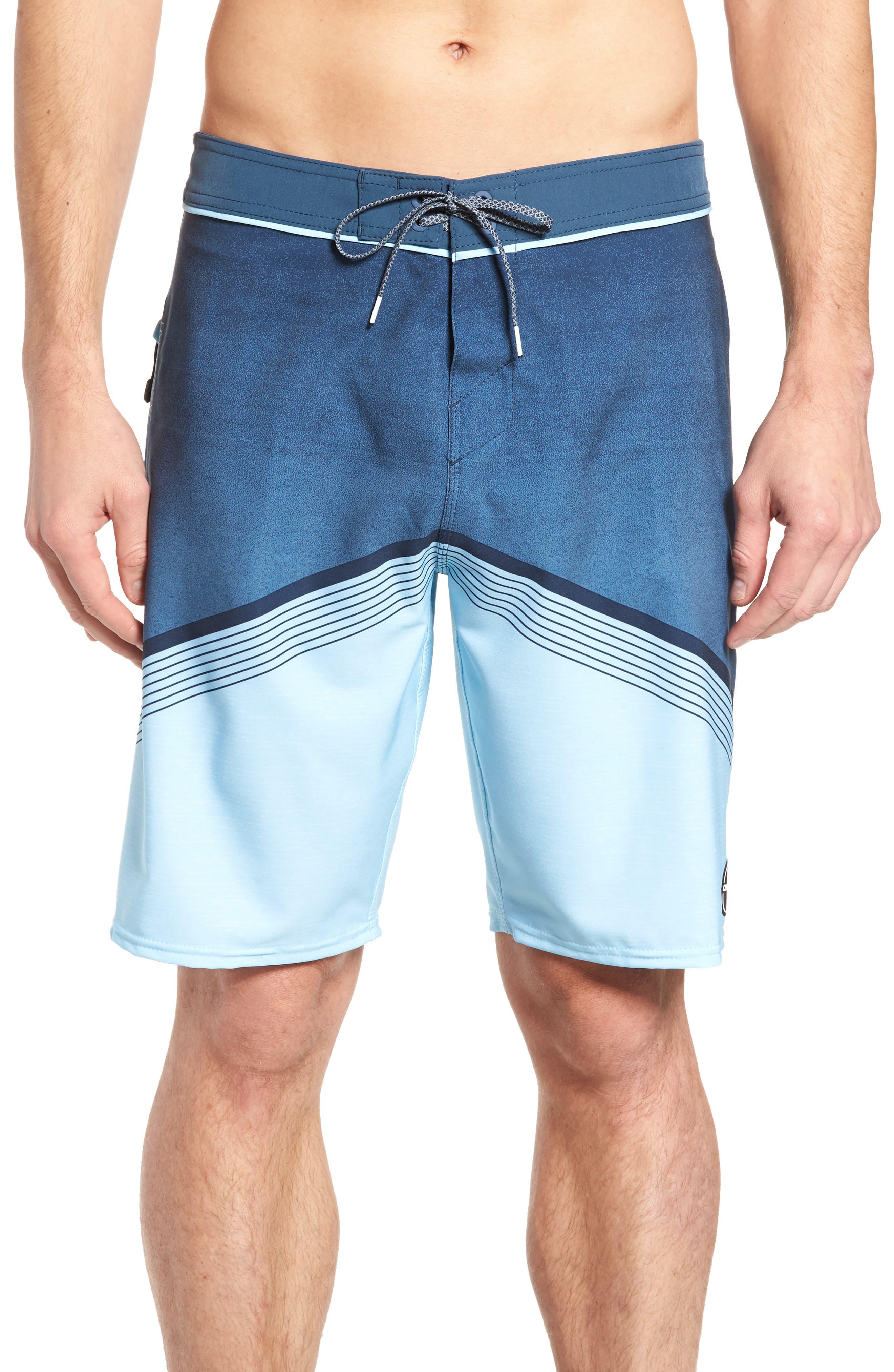 Hyperfreak Stretch Board Shorts,                         Main,                         color, Ocean