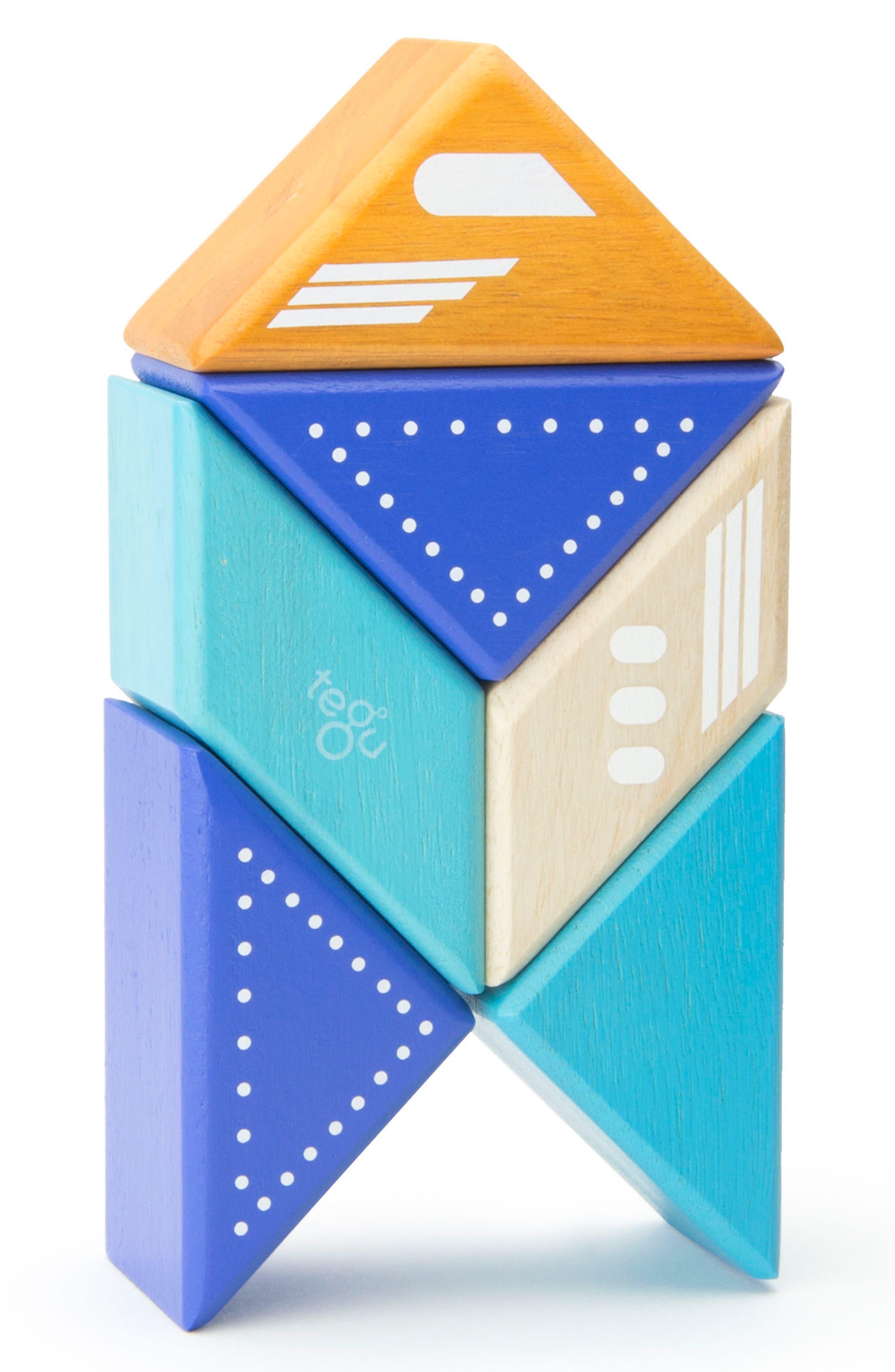 Travel Pals 6-Piece Jet Magnetic Block Set,                             Alternate thumbnail 5, color,                             Blue