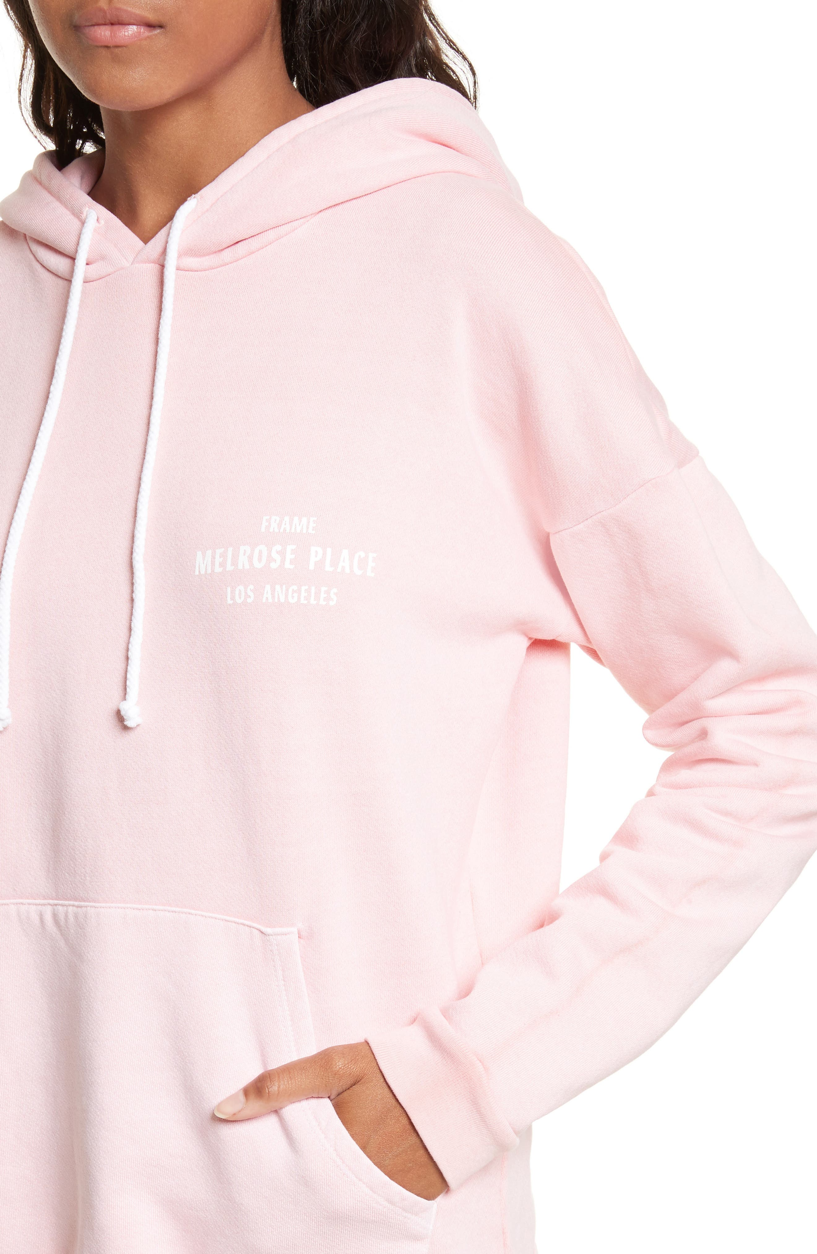 Oversize Hoodie,                             Alternate thumbnail 4, color,                             Faded Light Pink