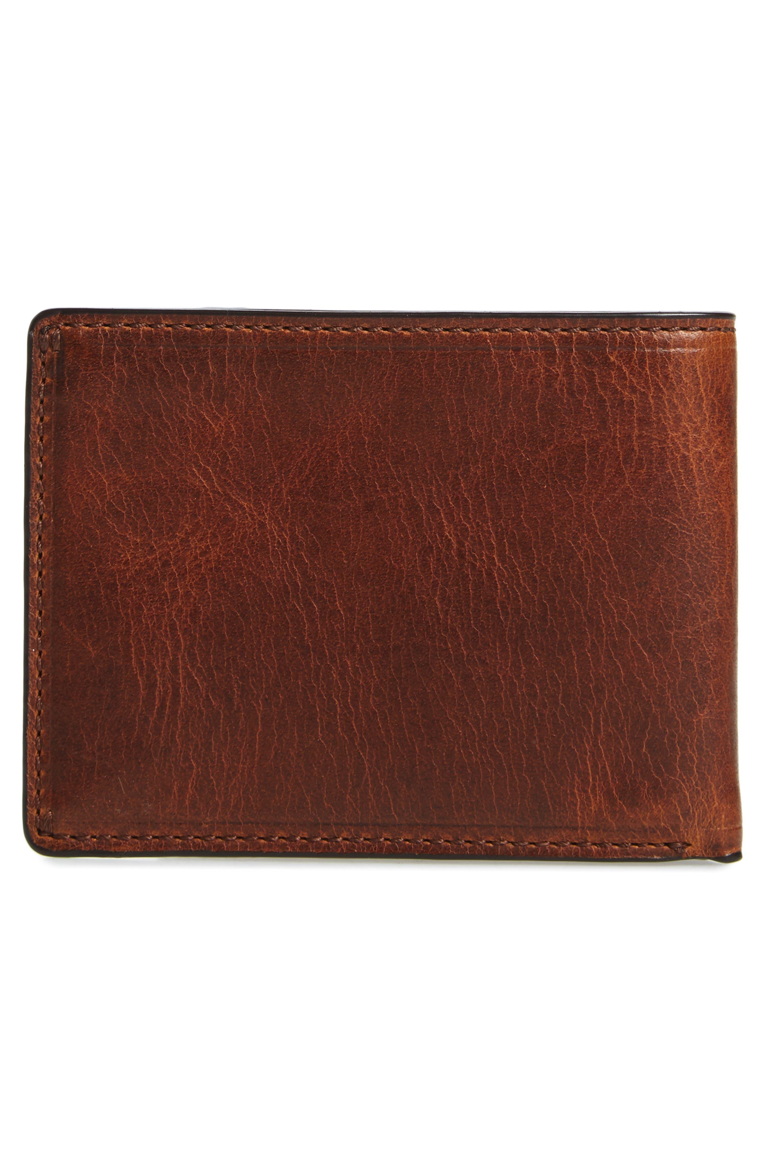 Logan Leather Wallet,                             Alternate thumbnail 3, color,                             Cognac