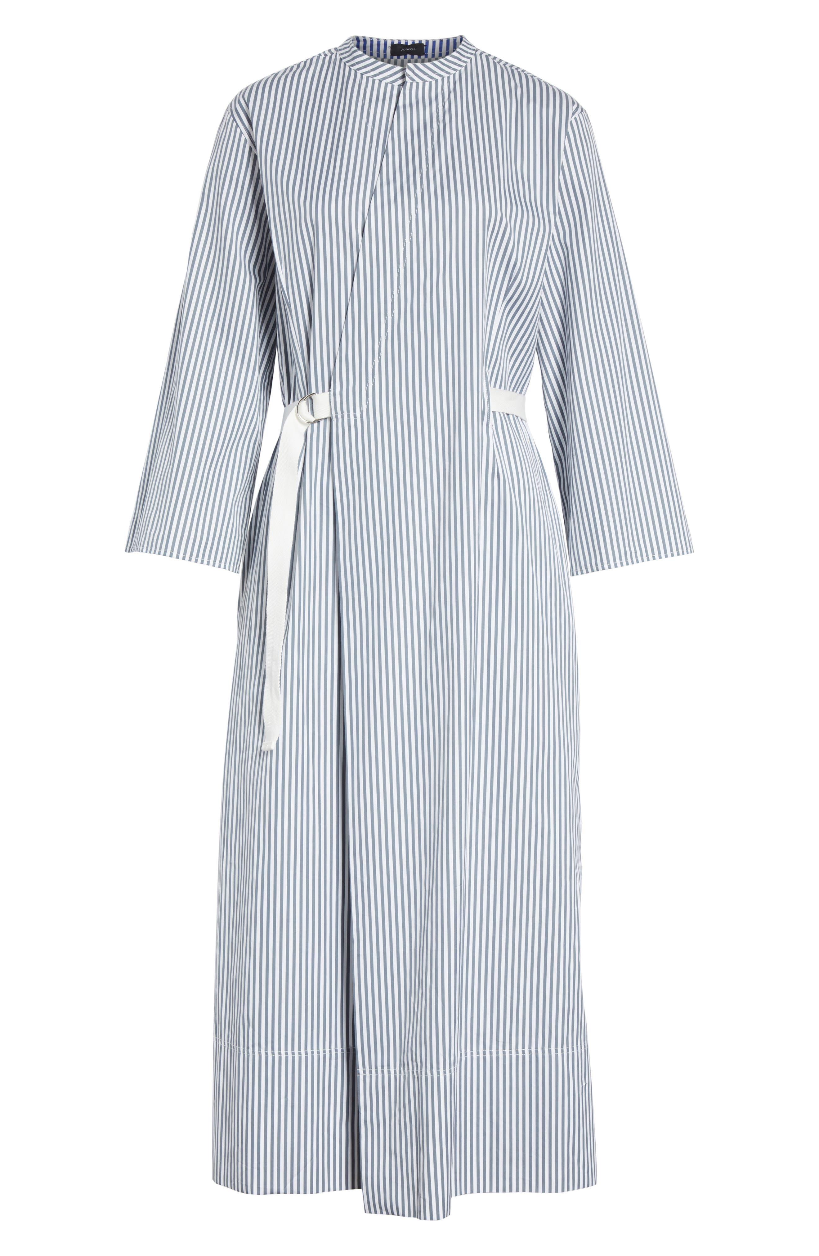 Candy Stripe Midi Dress,                             Alternate thumbnail 6, color,                             Ink
