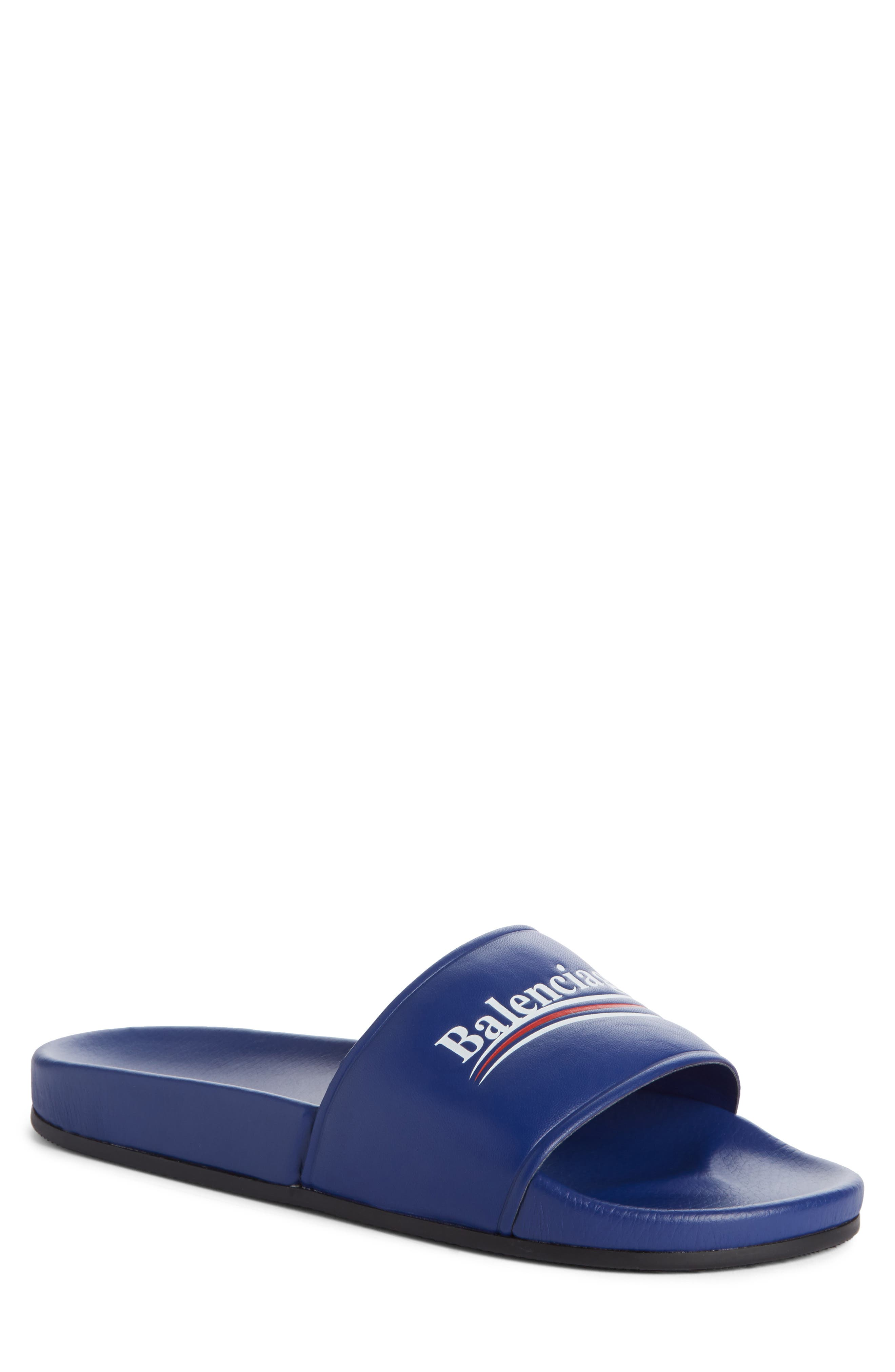 Balenciaga Retro Logo Slide Sandal (Men)