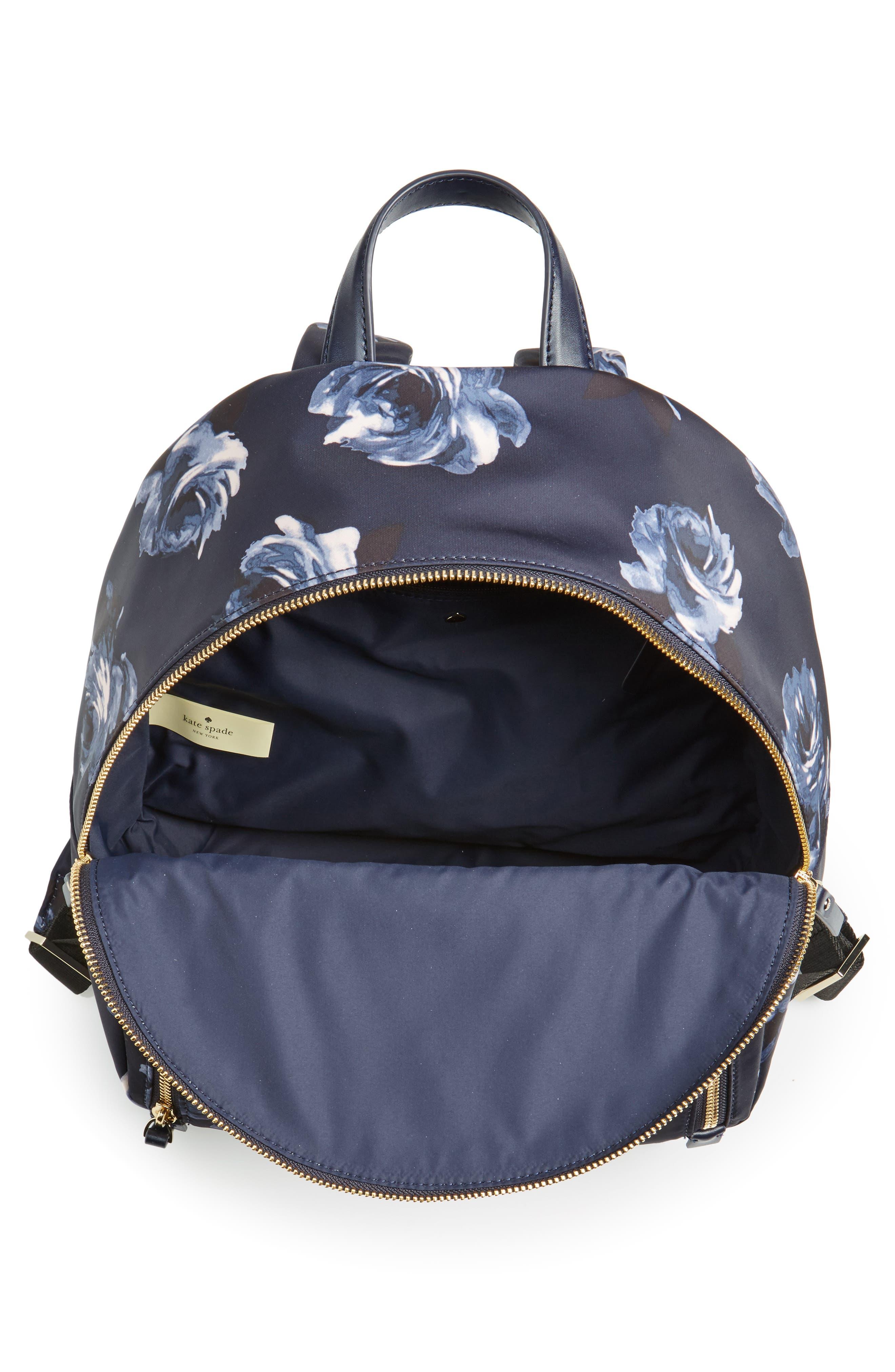 watson lane night rose hartley nylon backpack,                             Alternate thumbnail 4, color,                             Night Rose