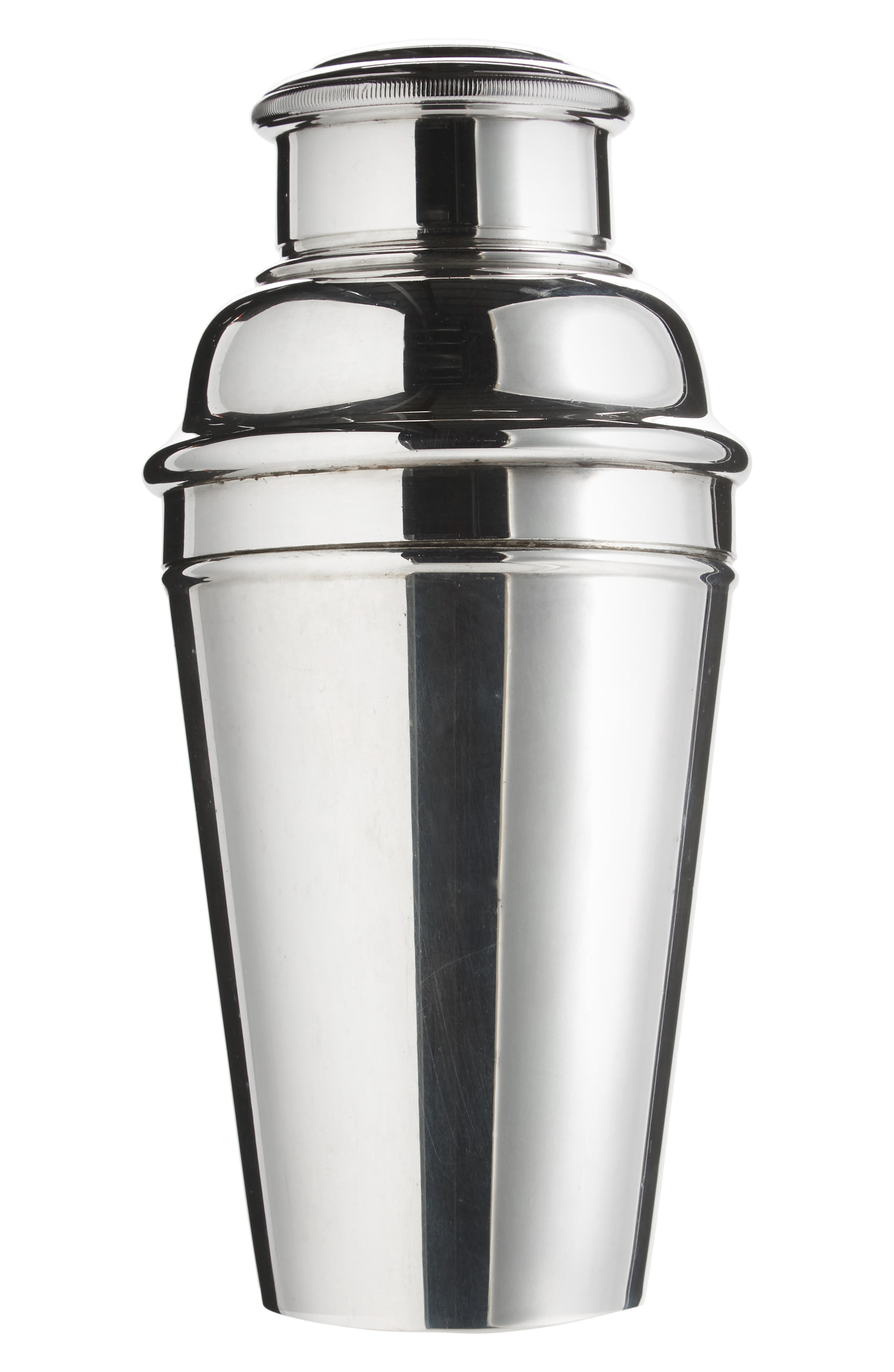 One of a Kind Vintage Silver Plated Cocktail Shaker,                             Main thumbnail 1, color,                             Silver