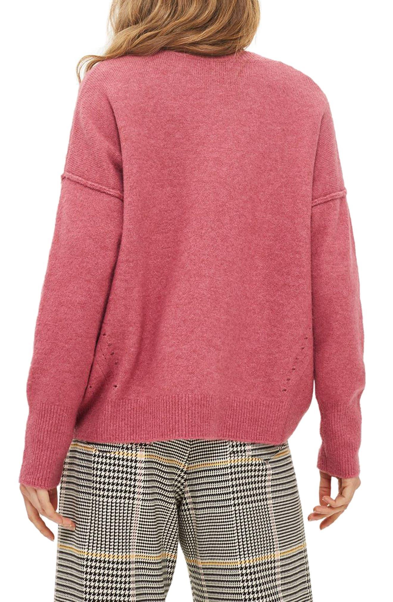 Alternate Image 3  - Topshop Pointelle Detail Sweater (Regular & Petite)