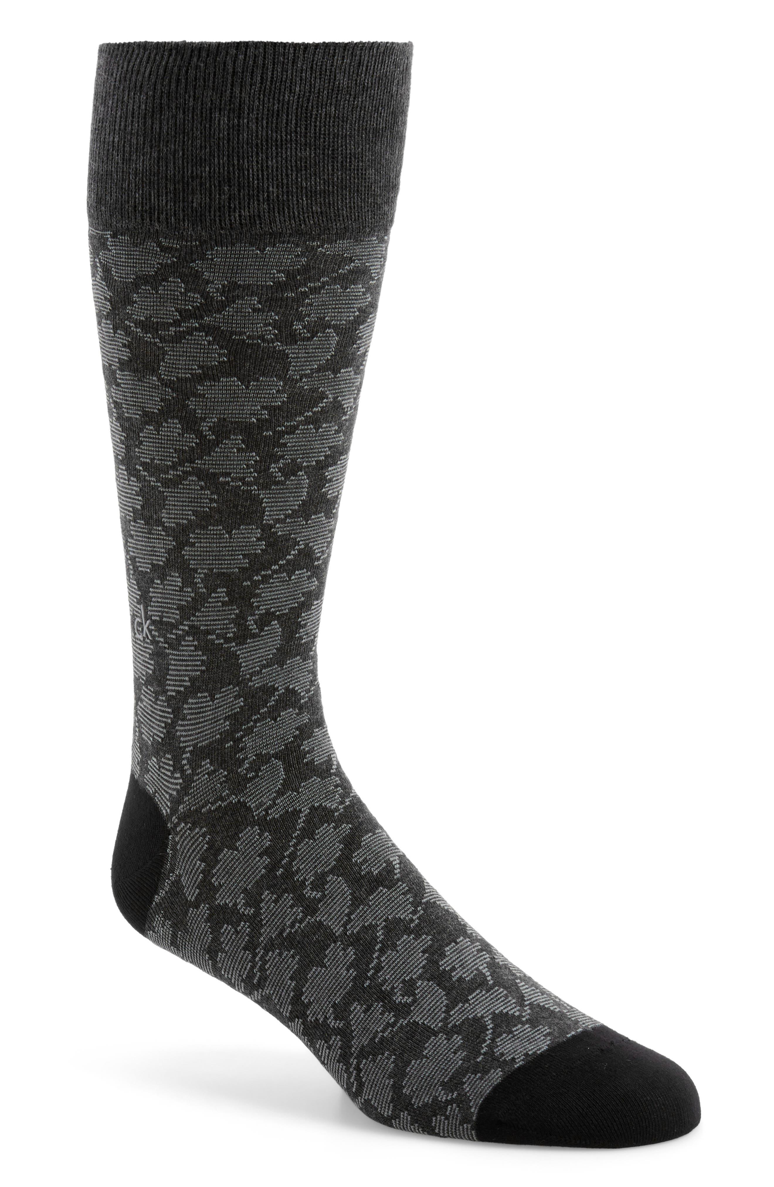 Main Image - Calvin Klein Floral Socks