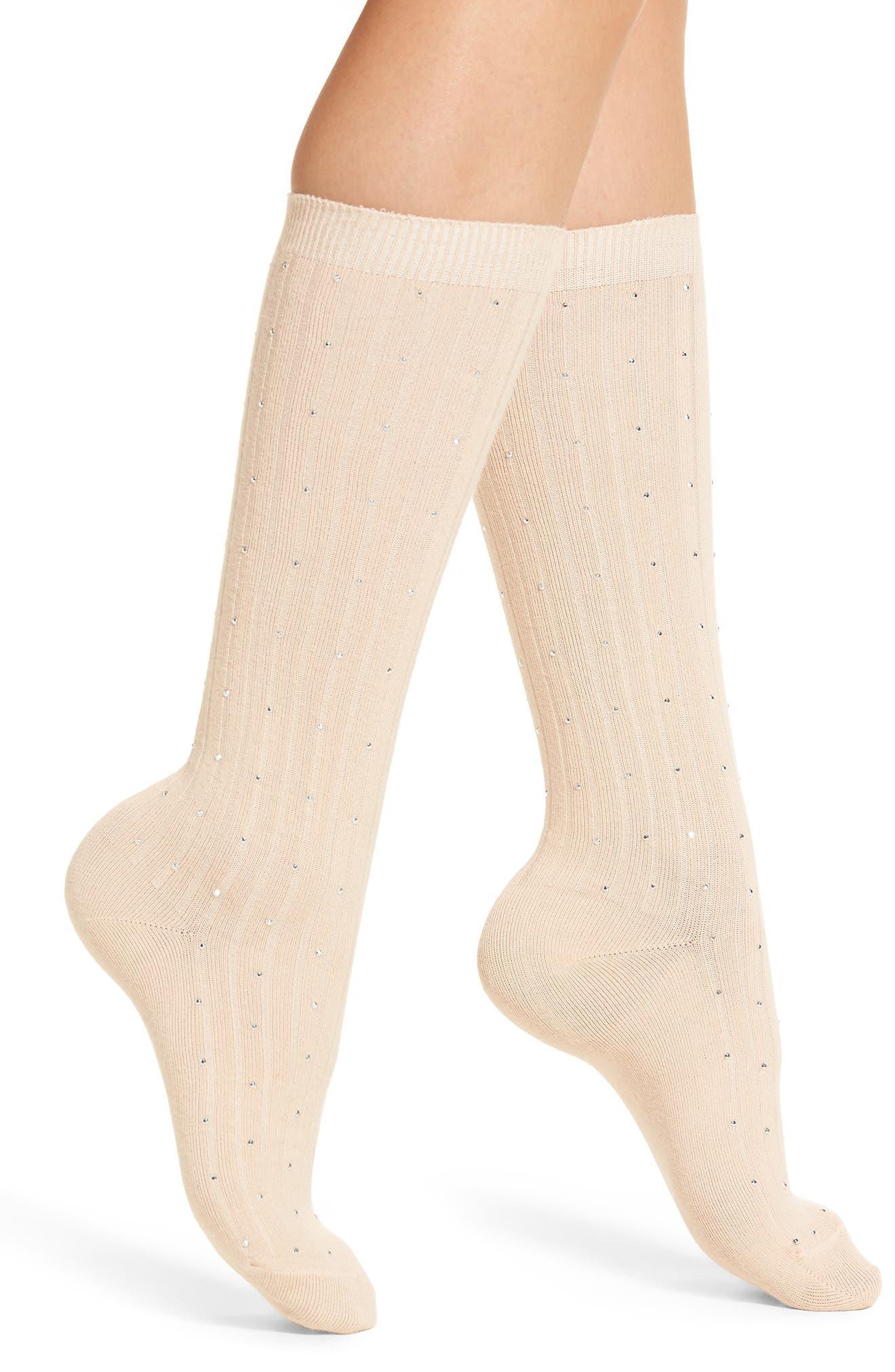 Tiny Diamantes Socks,                         Main,                         color, Pink Peony Bud