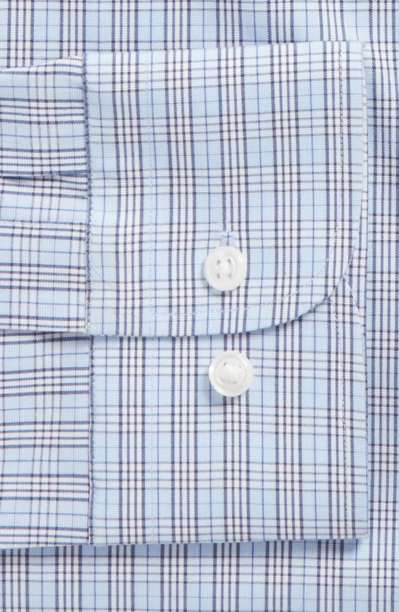 Alternate Image 5  - Nordstrom Men's Shop Tech-Smart Trim Fit Grid Dress Shirt