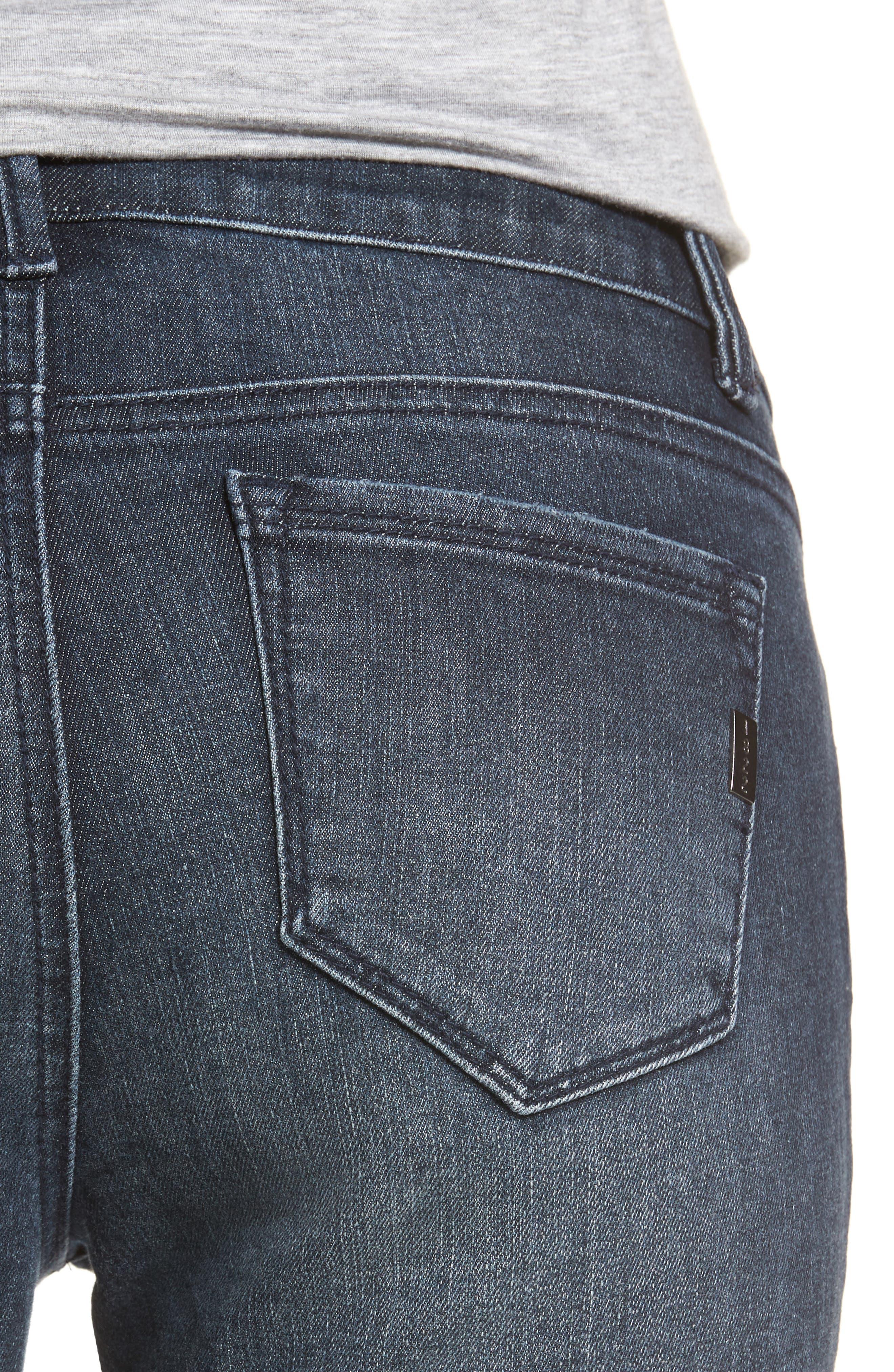 Alternate Image 4  - 1822 Denim Distressed Skinny Jeans (Palin)