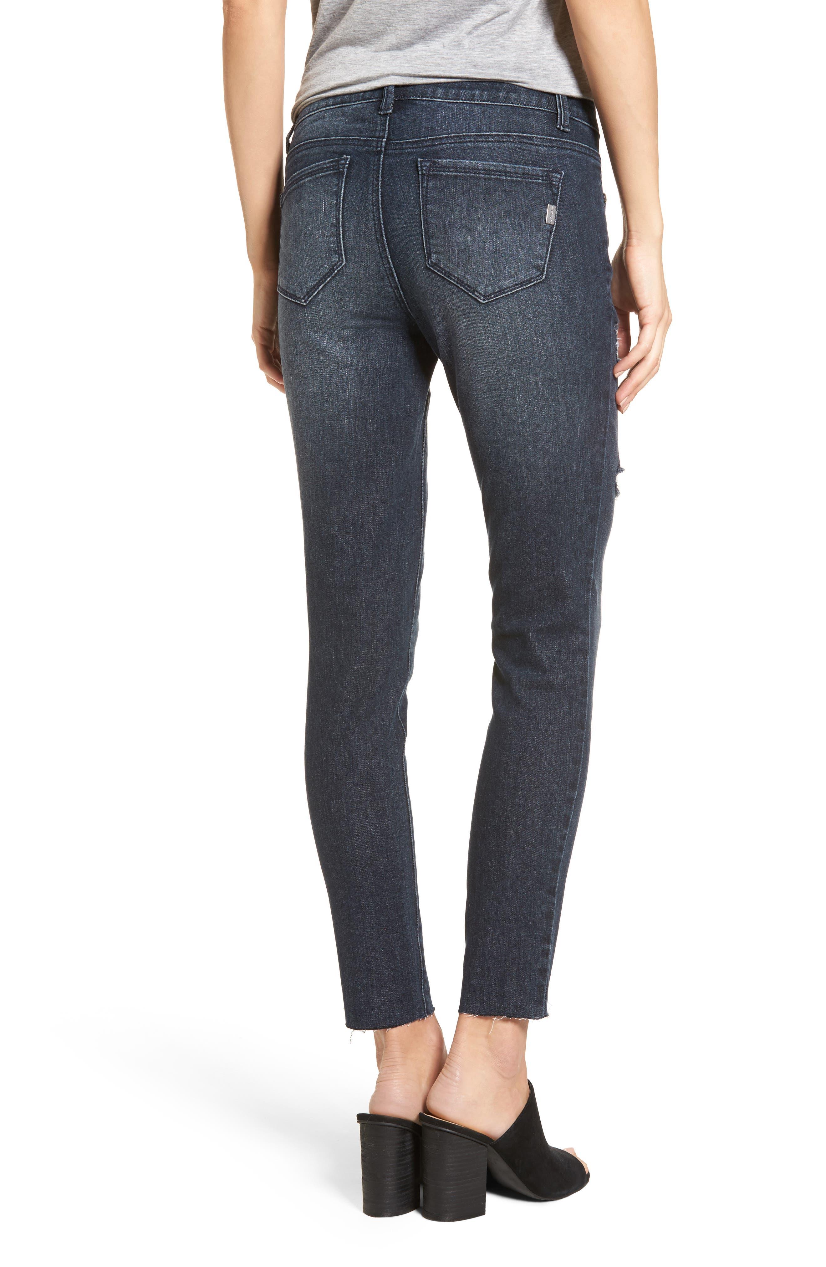 Alternate Image 2  - 1822 Denim Distressed Skinny Jeans (Palin)