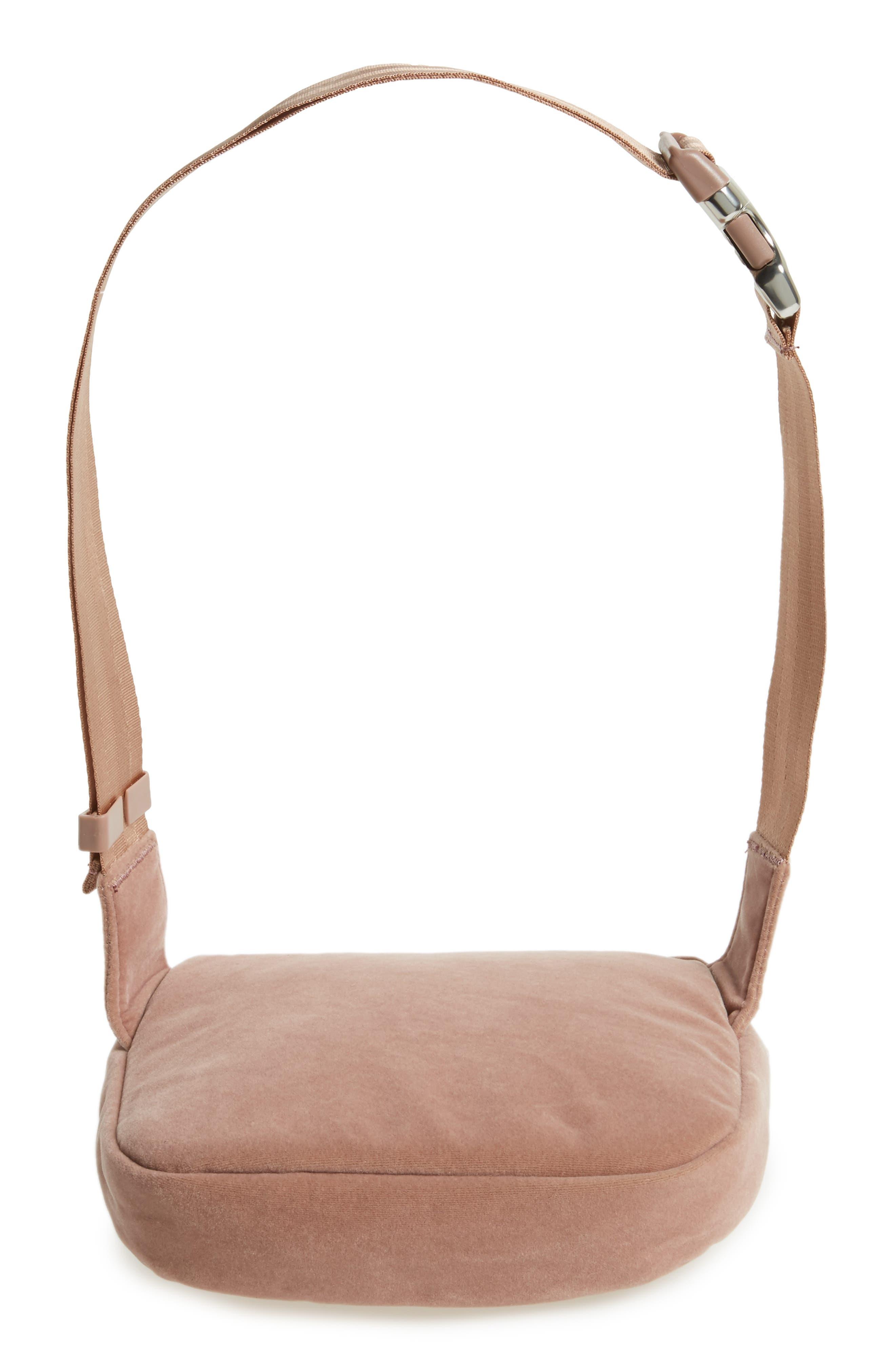 Fifteen Velvet Belt Bag,                             Alternate thumbnail 6, color,                             Ash Rose
