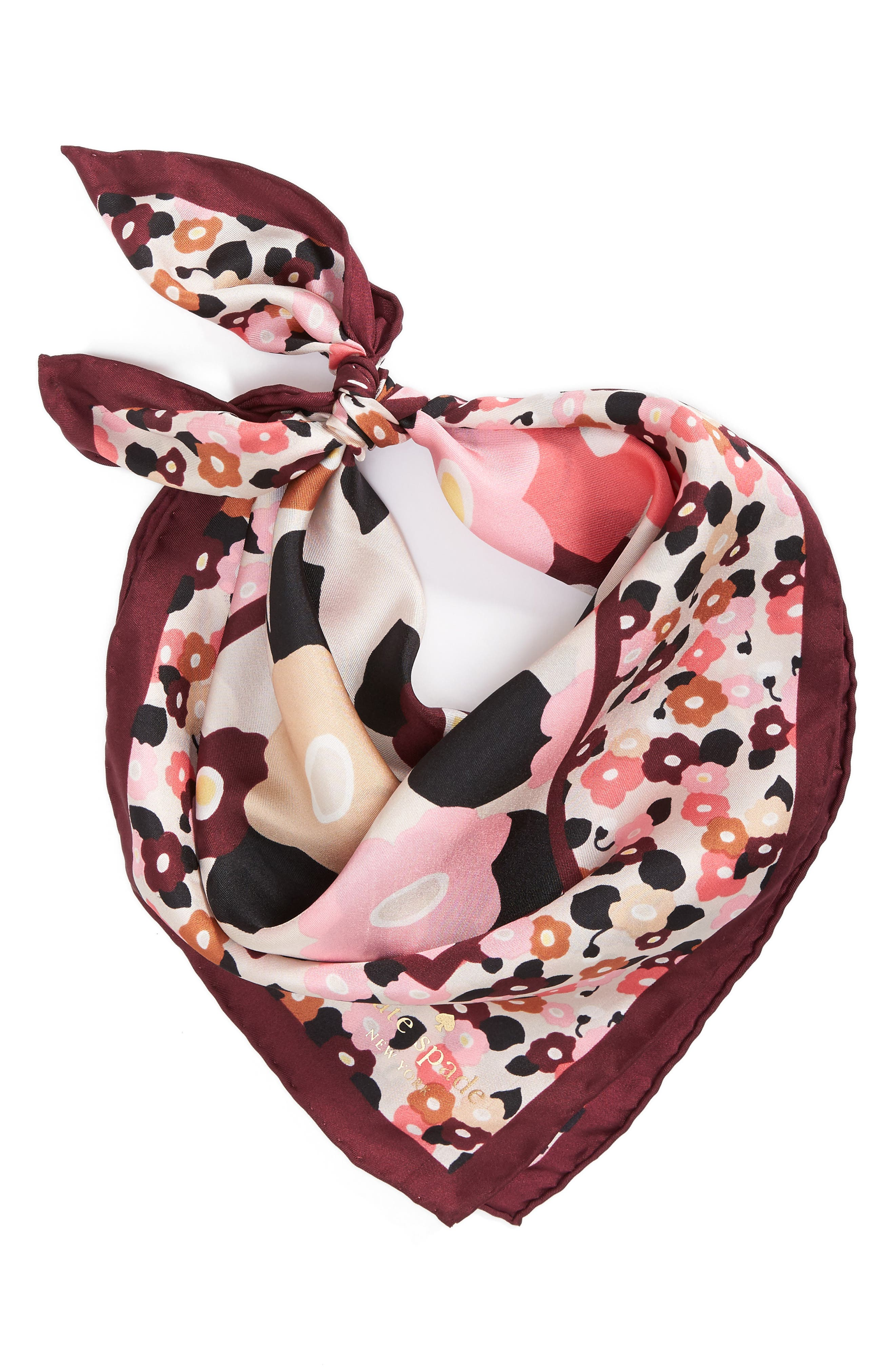 blooming silk bandana,                             Alternate thumbnail 4, color,                             Rose Dew