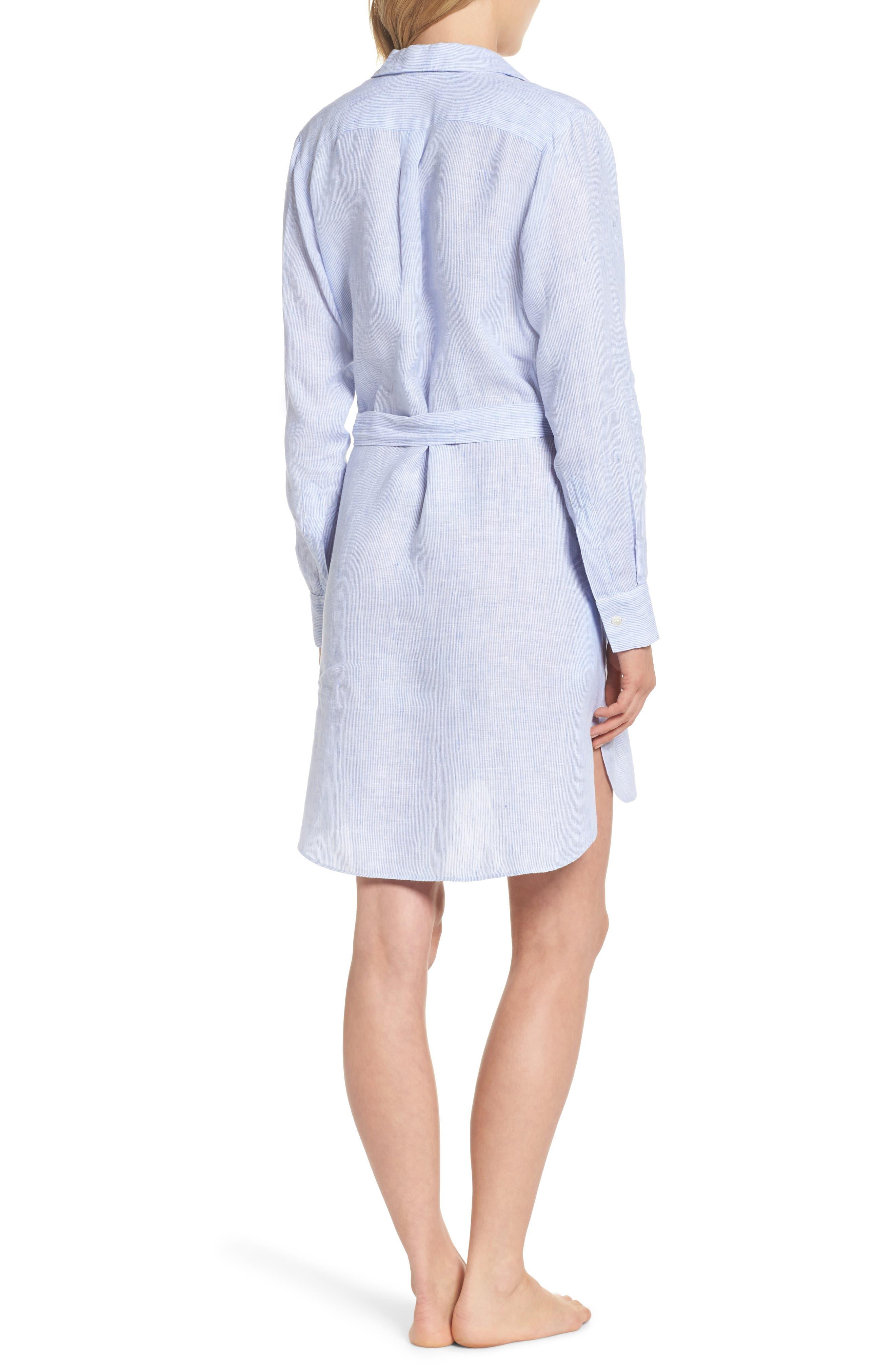 Alternate Image 2  - Pour Les Femmes Linen Shirtdress