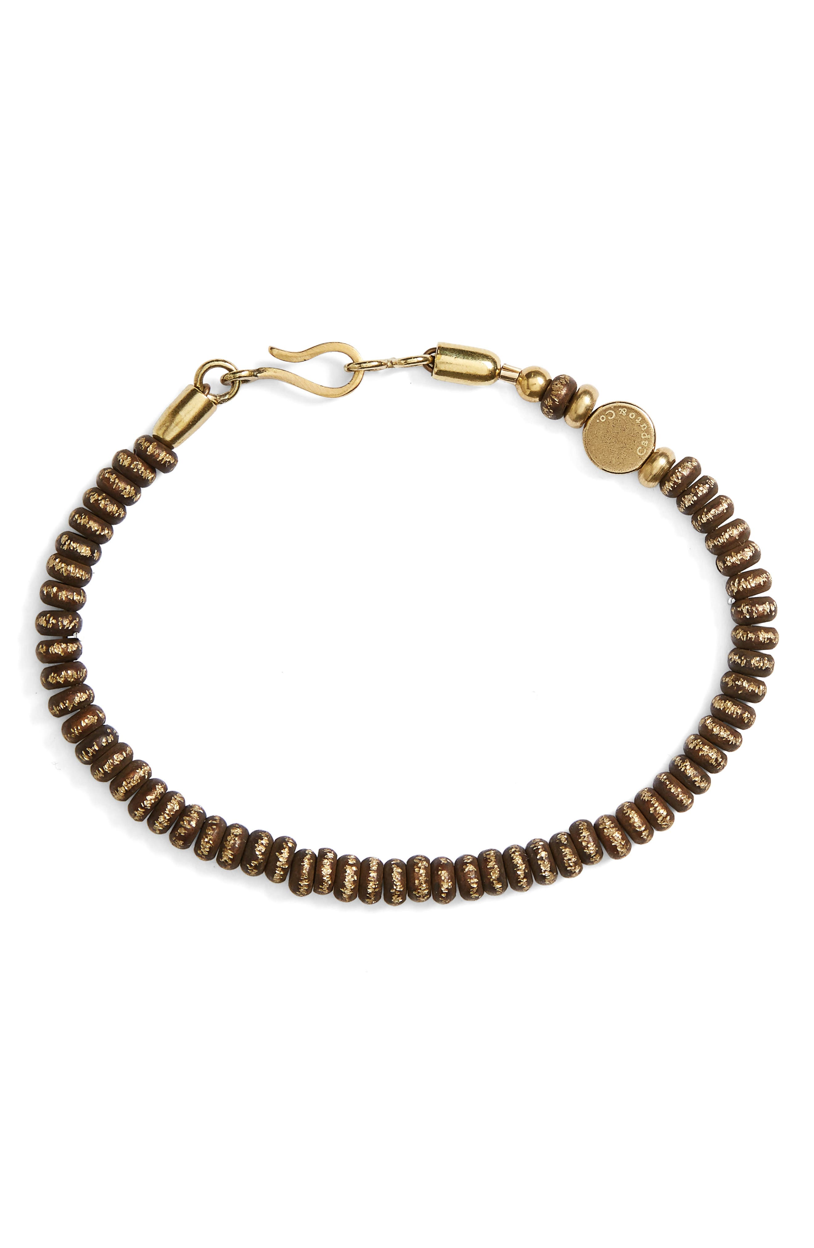 Rondelle Brass Bead Bracelet,                         Main,                         color, Brass