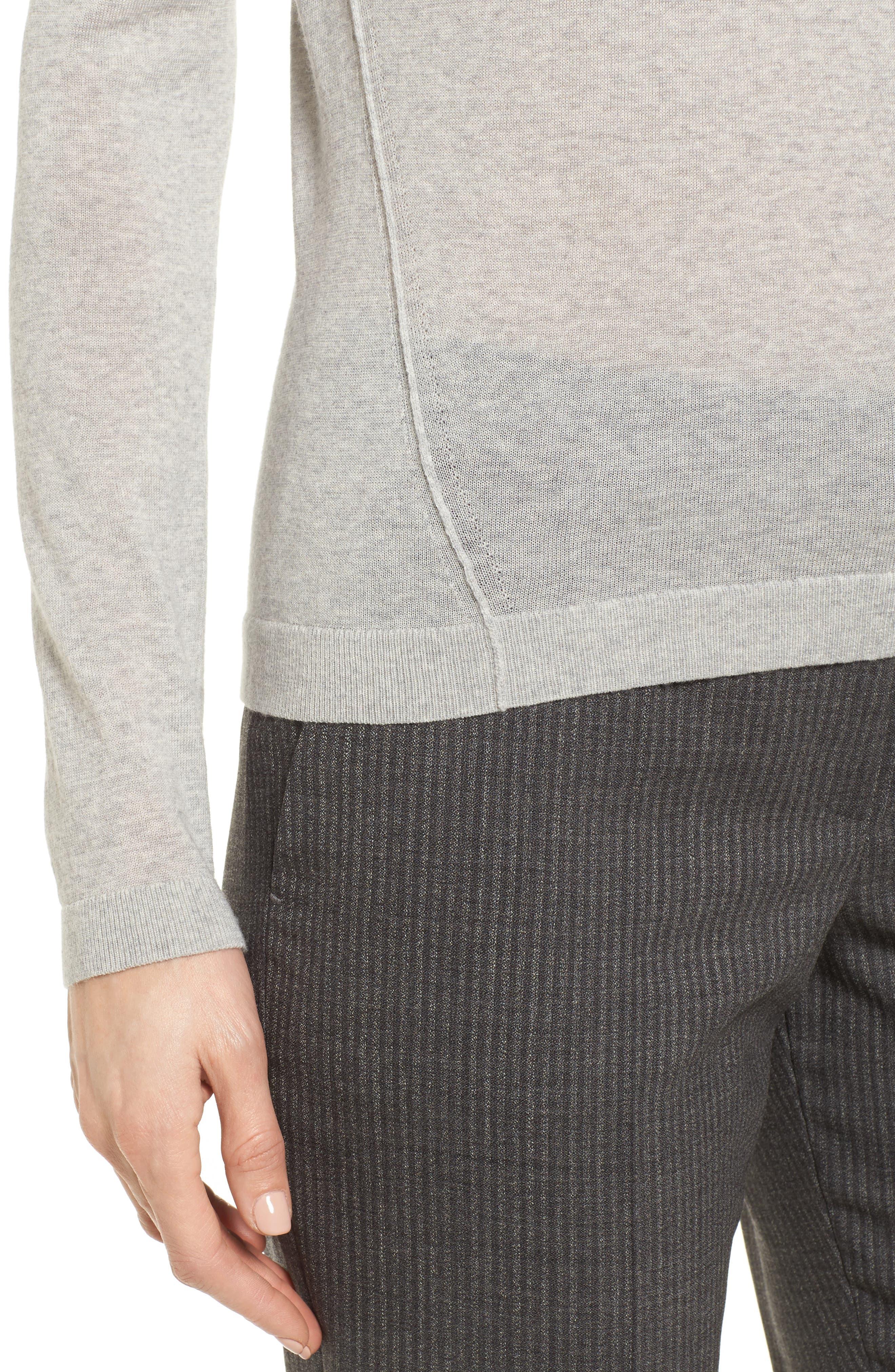 Fayme Wool Crewneck Sweater,                             Alternate thumbnail 4, color,                             Cozy Grey Melange