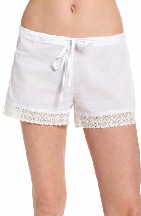 Pour Les Femmes Lace Trim Sleep Shorts