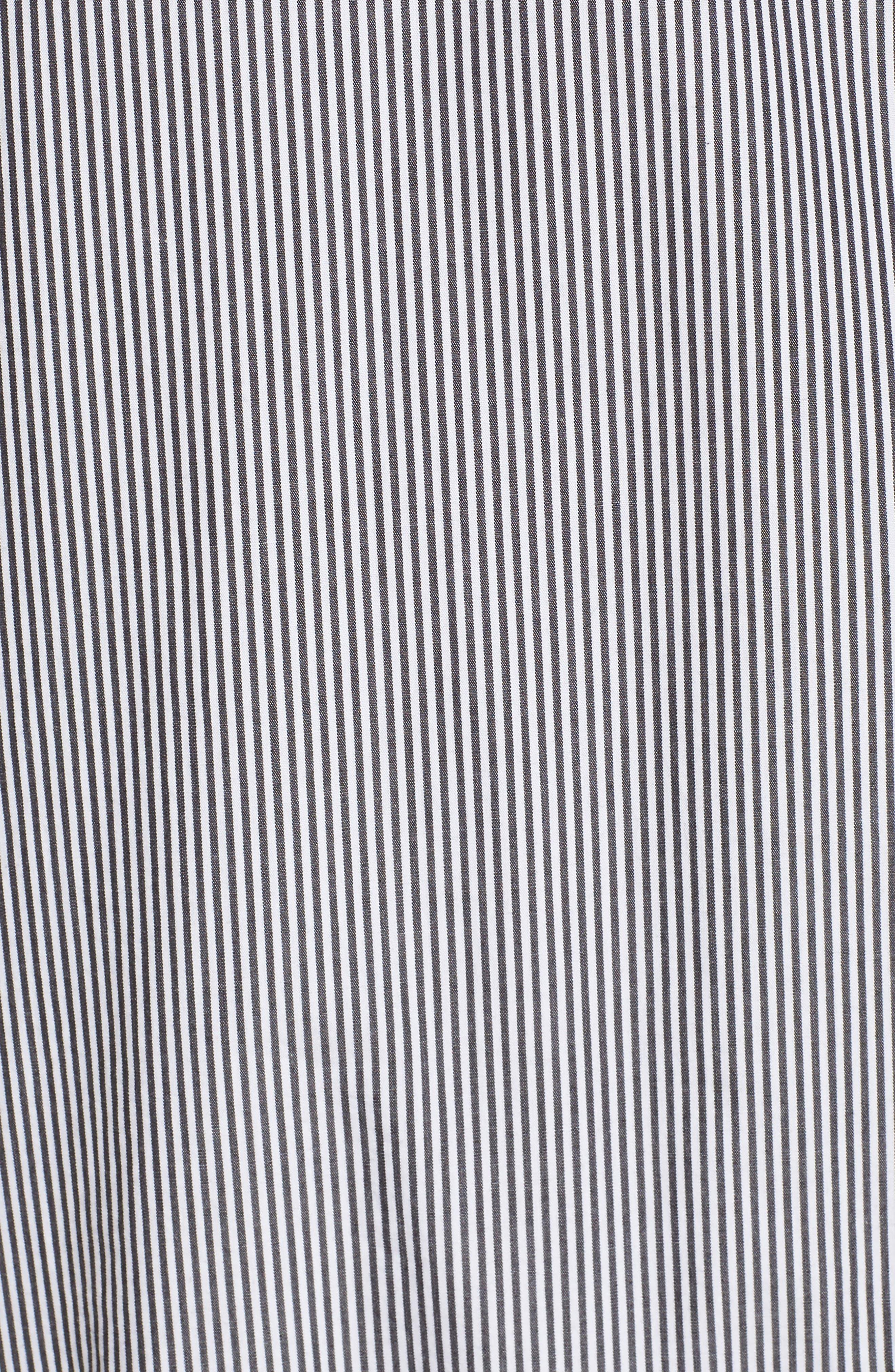 Lace Trim Drop Waist Dress,                             Alternate thumbnail 5, color,                             Black Jenny Stripe