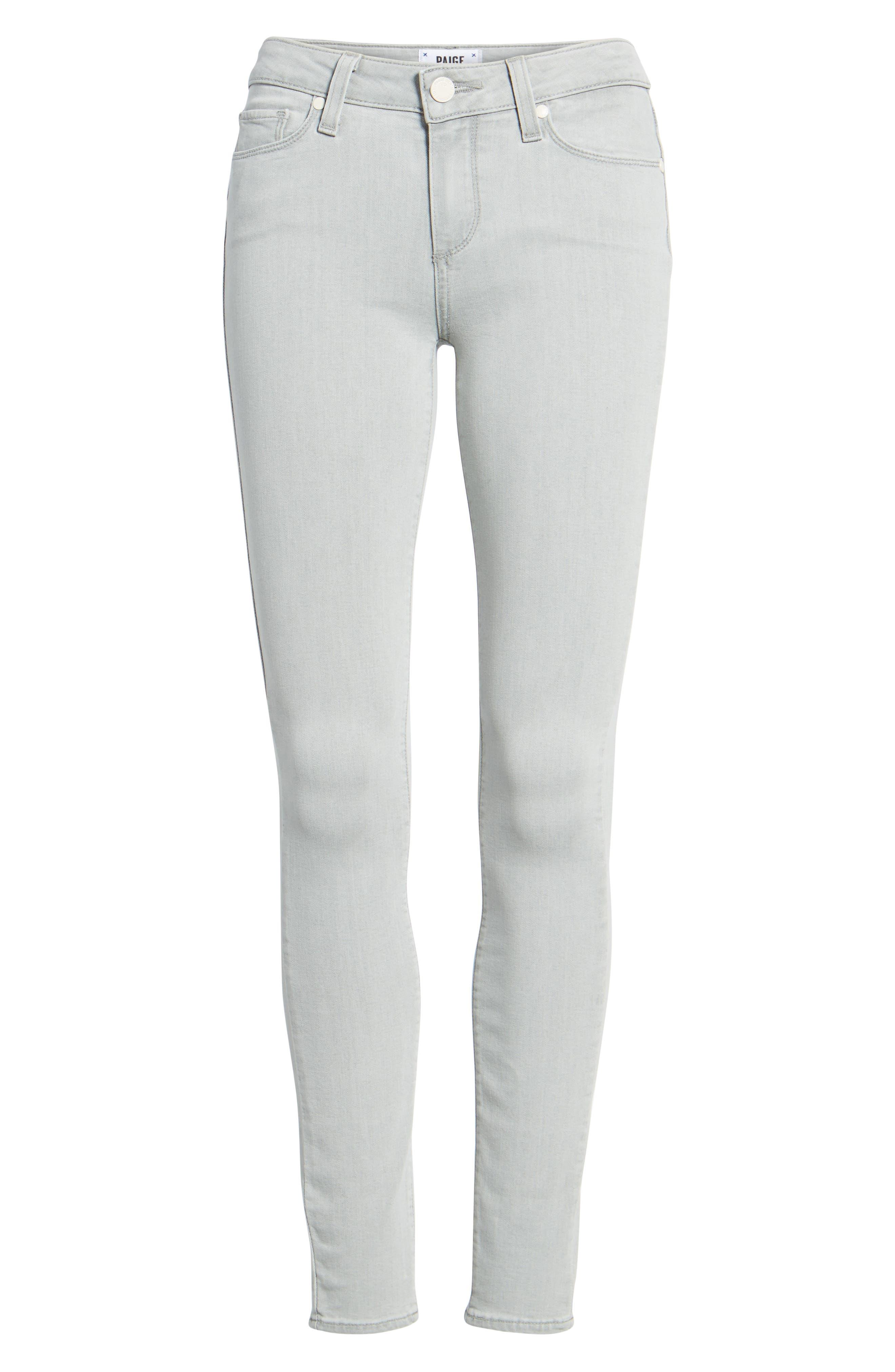 Transcend - Verdugo Ultra Skinny Jeans,                             Alternate thumbnail 7, color,                             Whisper Grey