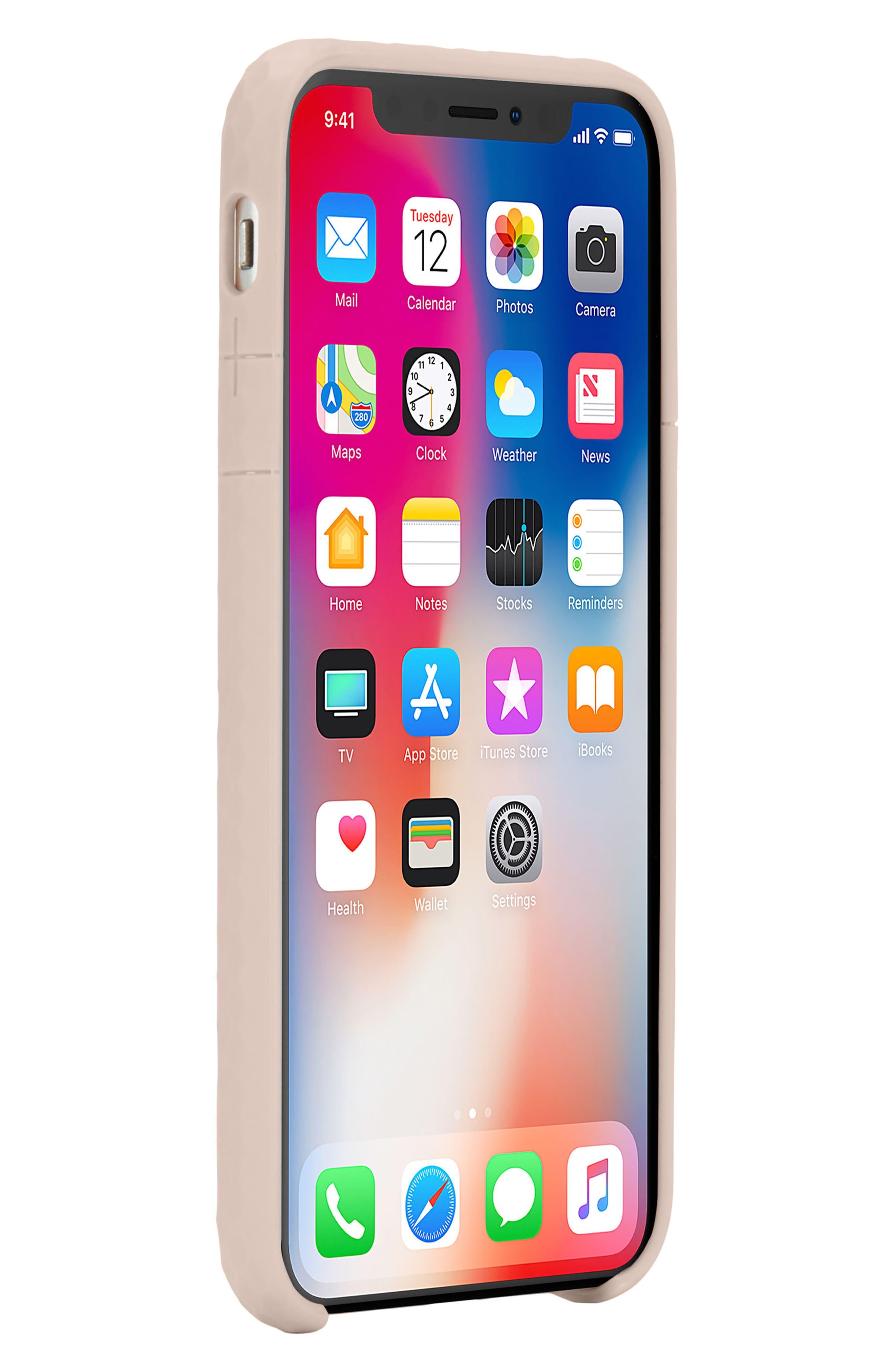 Pop iPhone X Case,                             Alternate thumbnail 6, color,                             Rose Gold