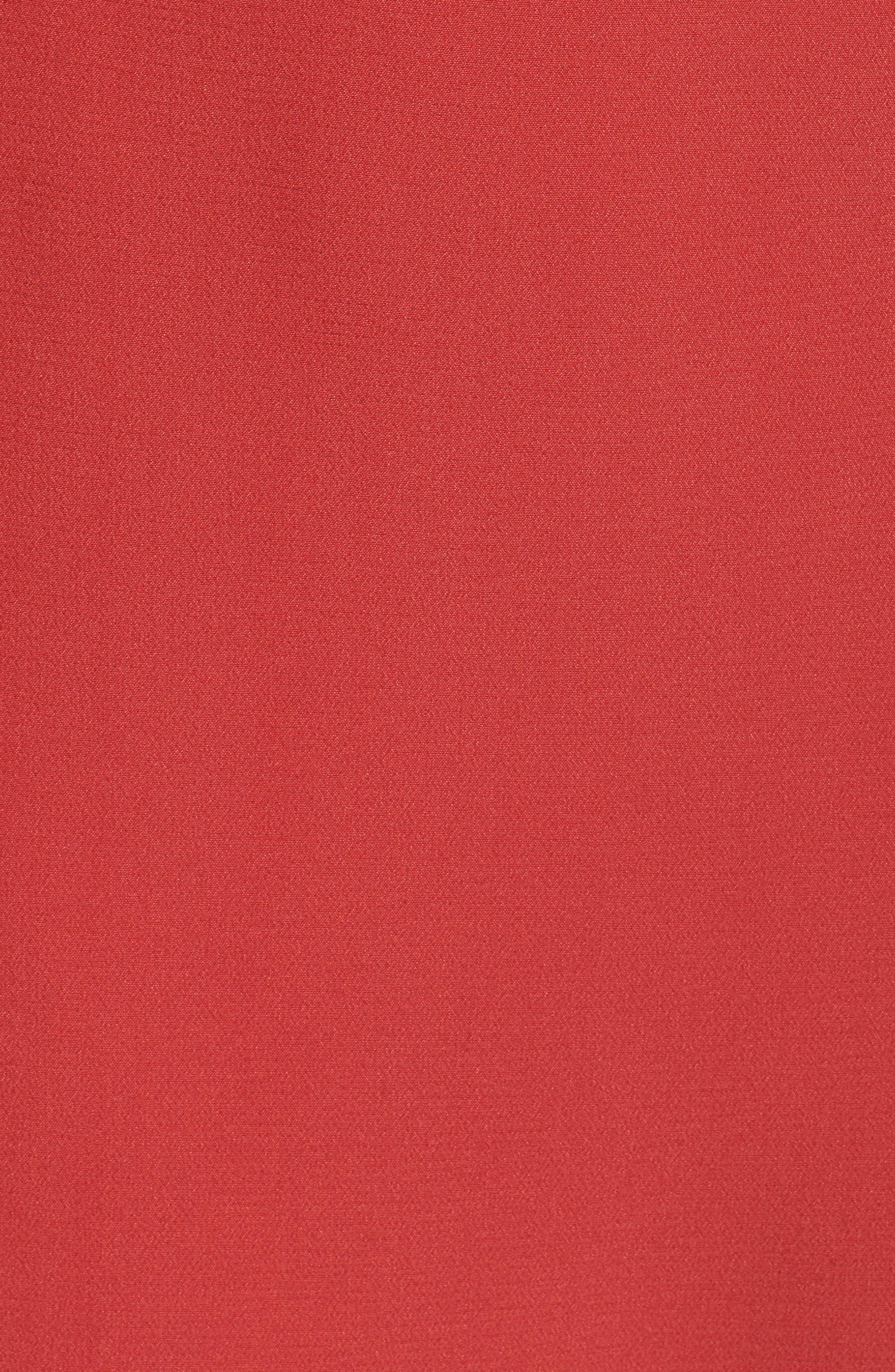Infinite Strapless Dress,                             Alternate thumbnail 5, color,                             Rust