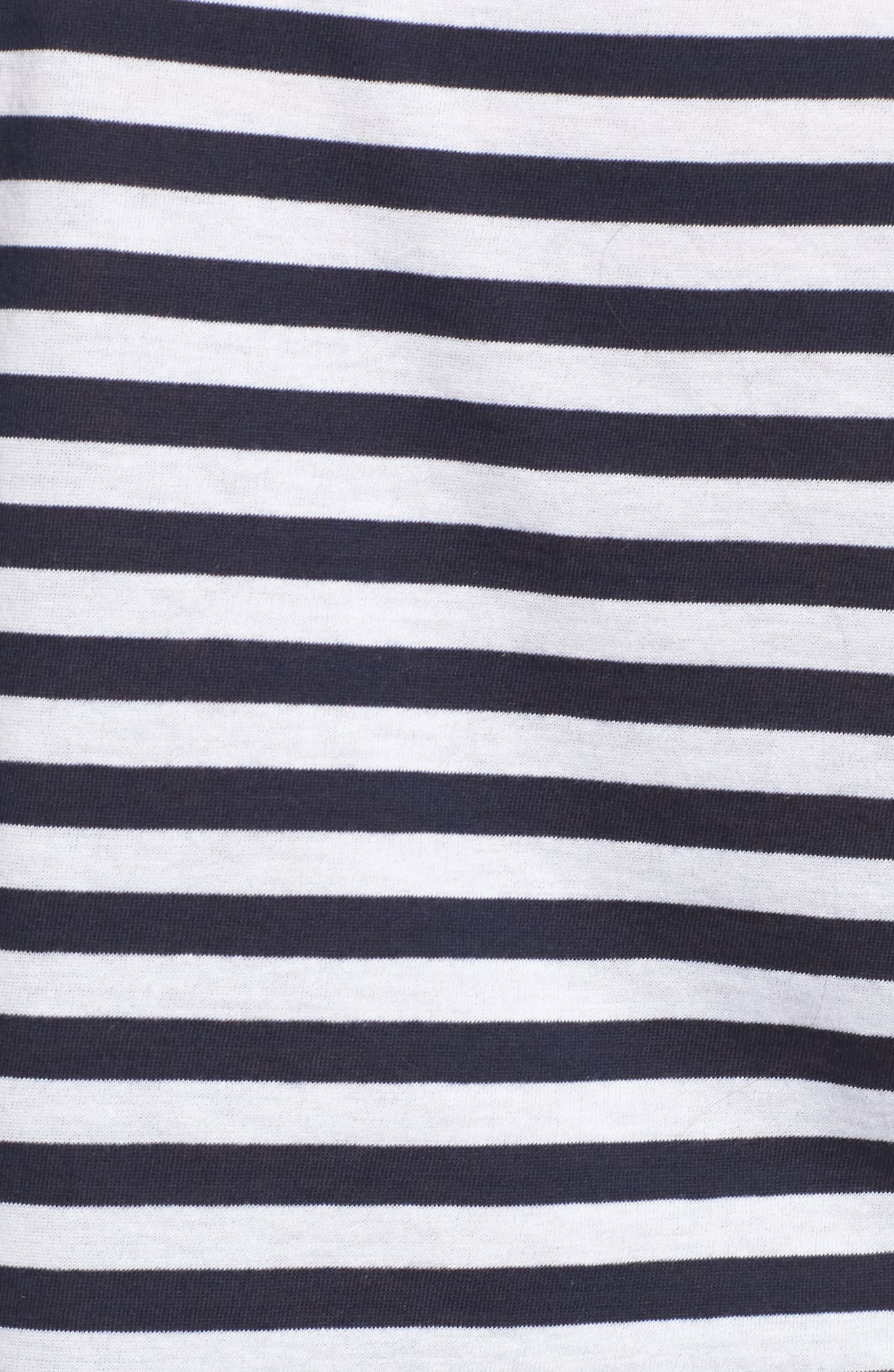 Stripe V-Neck Tee,                             Alternate thumbnail 5, color,                             Navy Peacoat Tracy Stripe